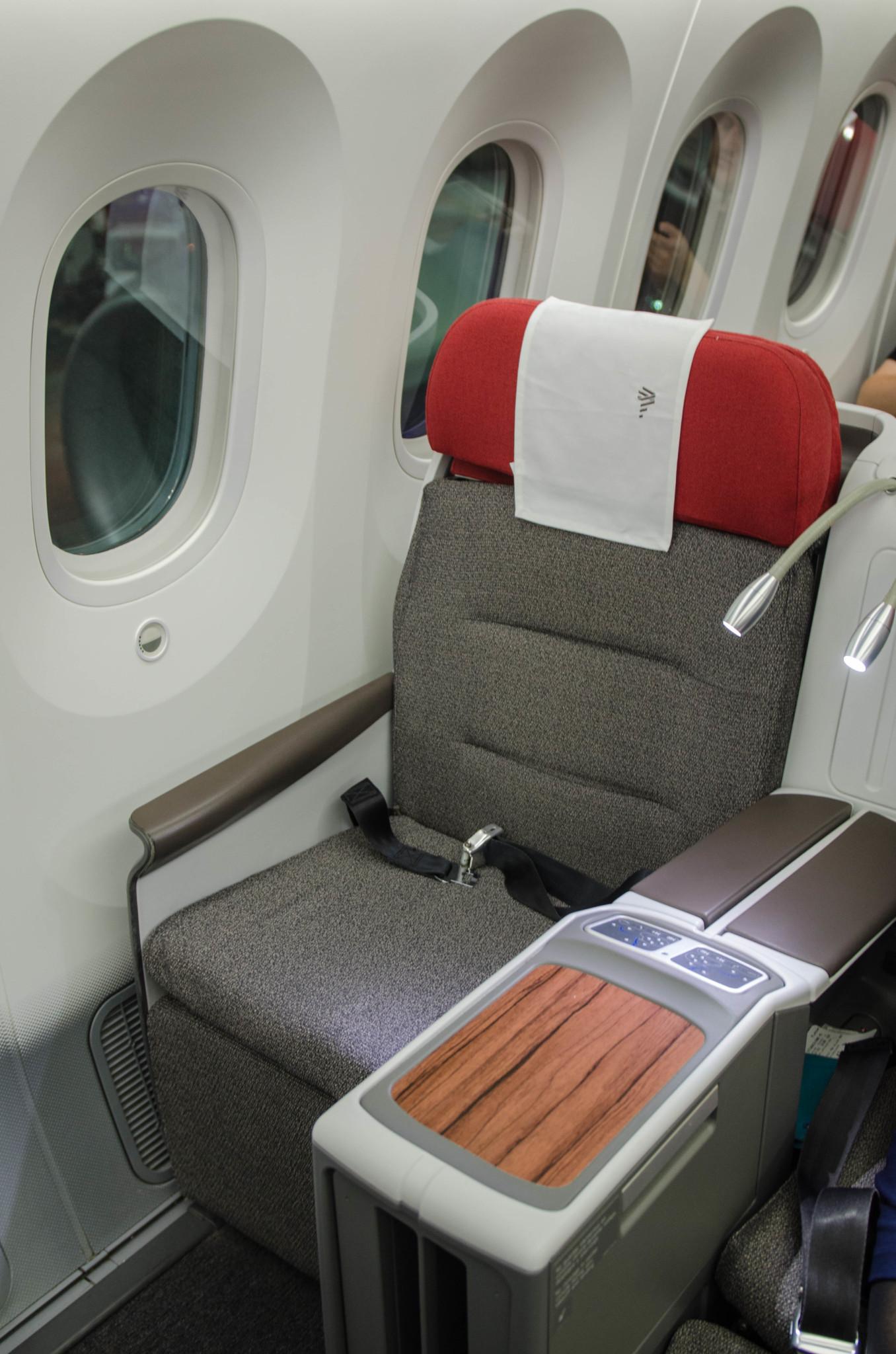 Modernes Design der Sitze bei Latam