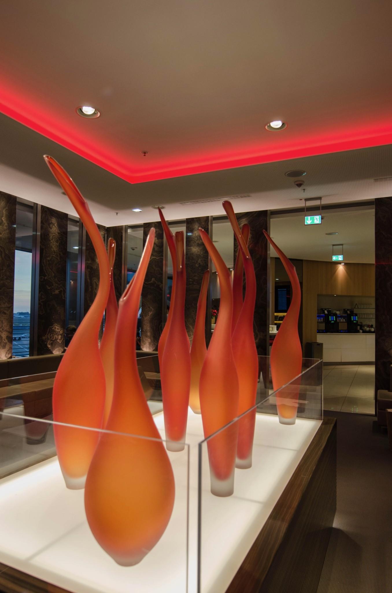 In der Business Class Lounge von Latam in Frankfurt