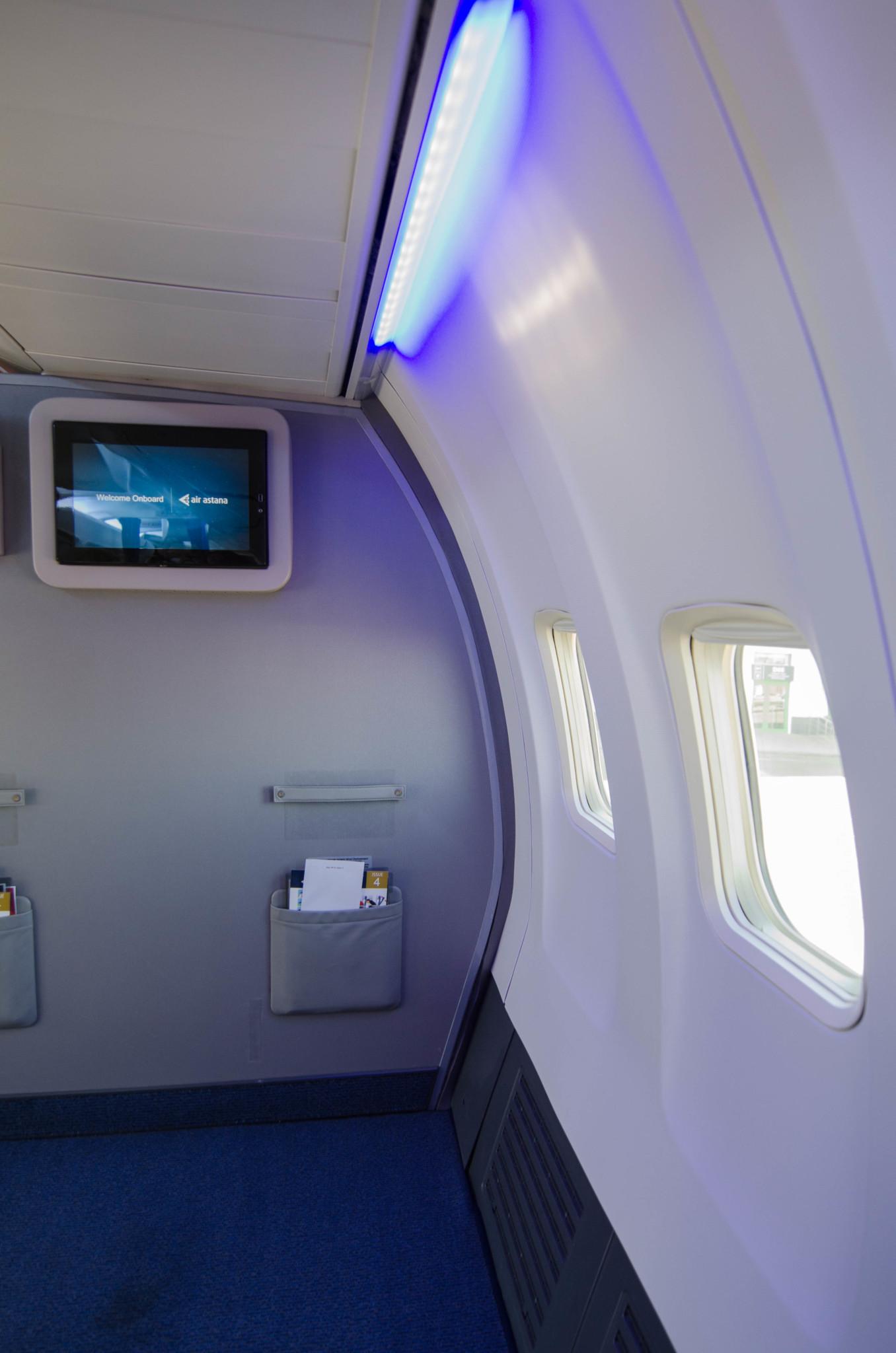 Die schicke Business Class der Air Astana