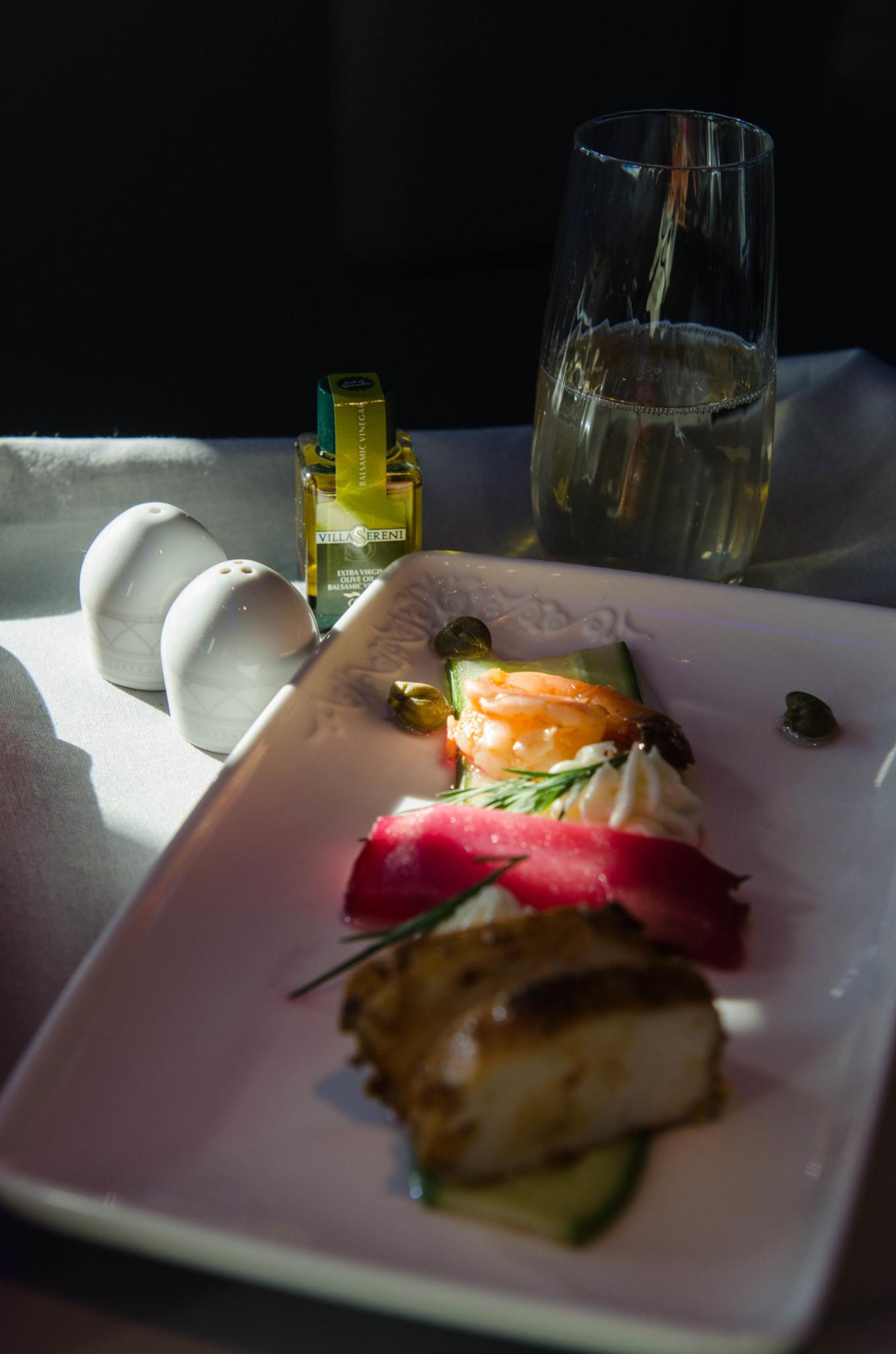 Kulinarik in der Business Class von Air Astana