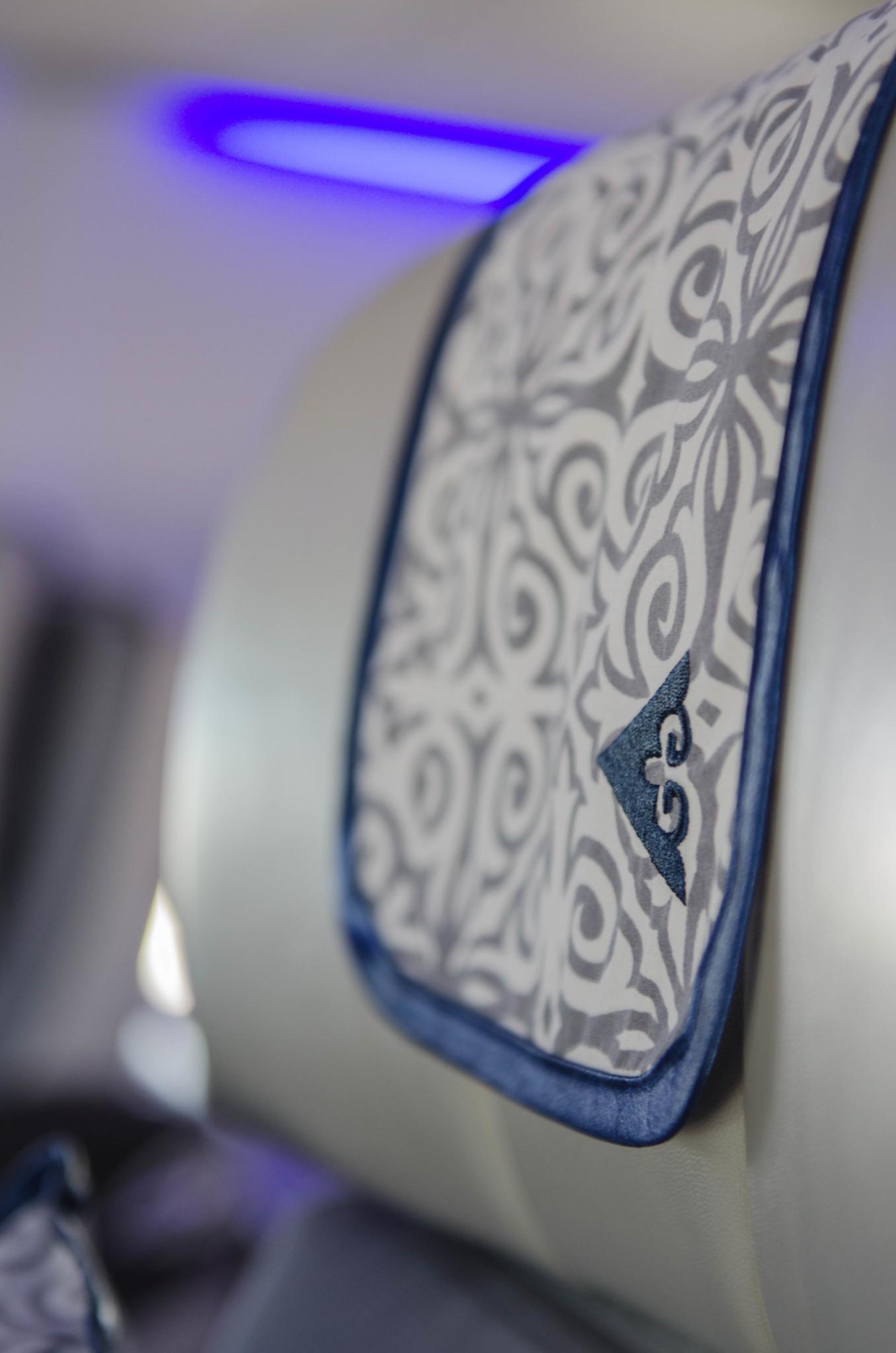 Schickes Design bei Air Astana