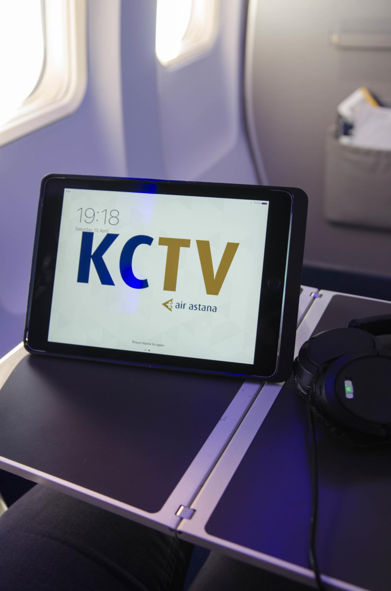 iPad für Business Class Passagiere von Air Astana