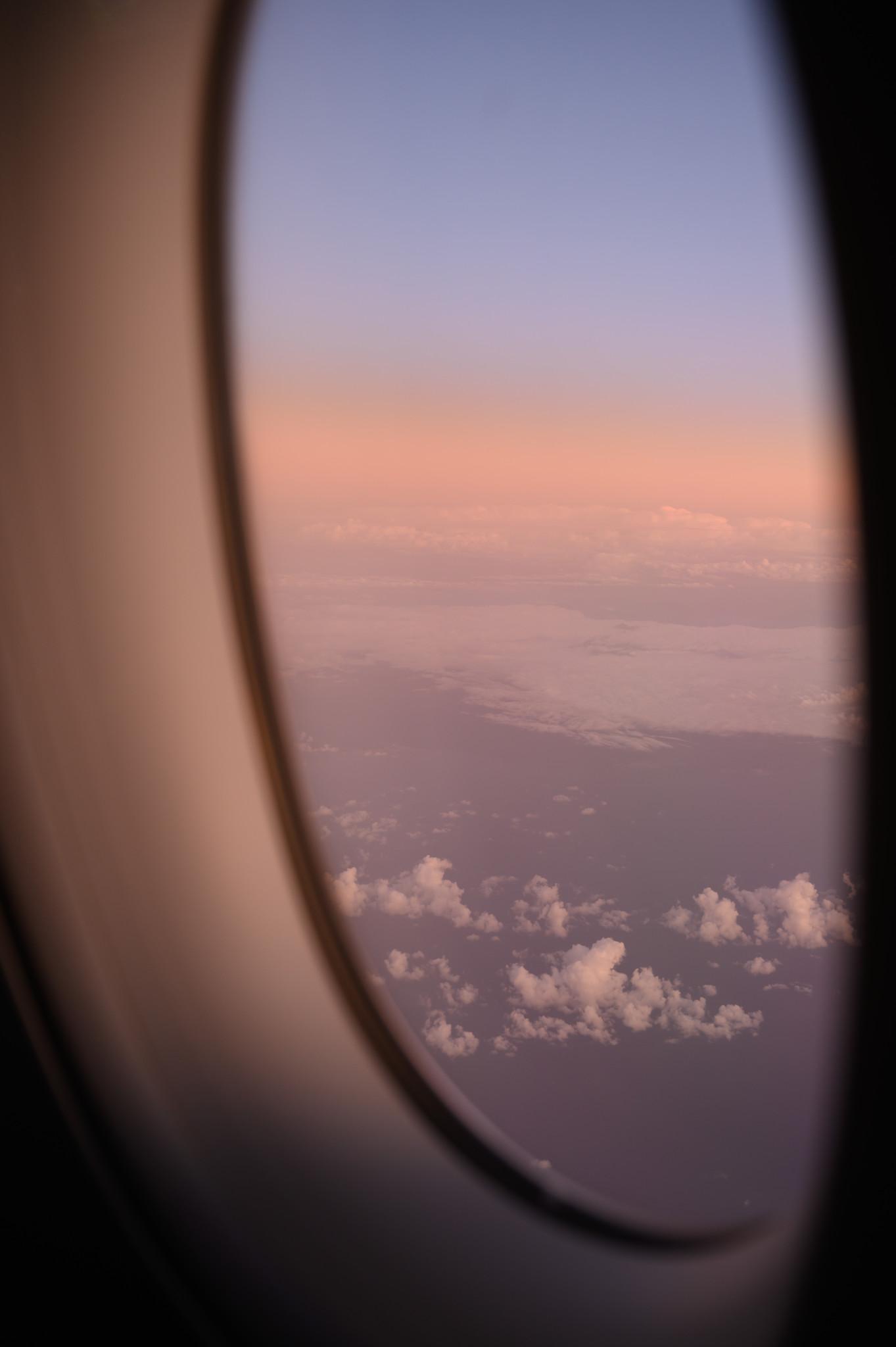 Sonnenuntergang auf dem Flug mit Vietnam Airlines