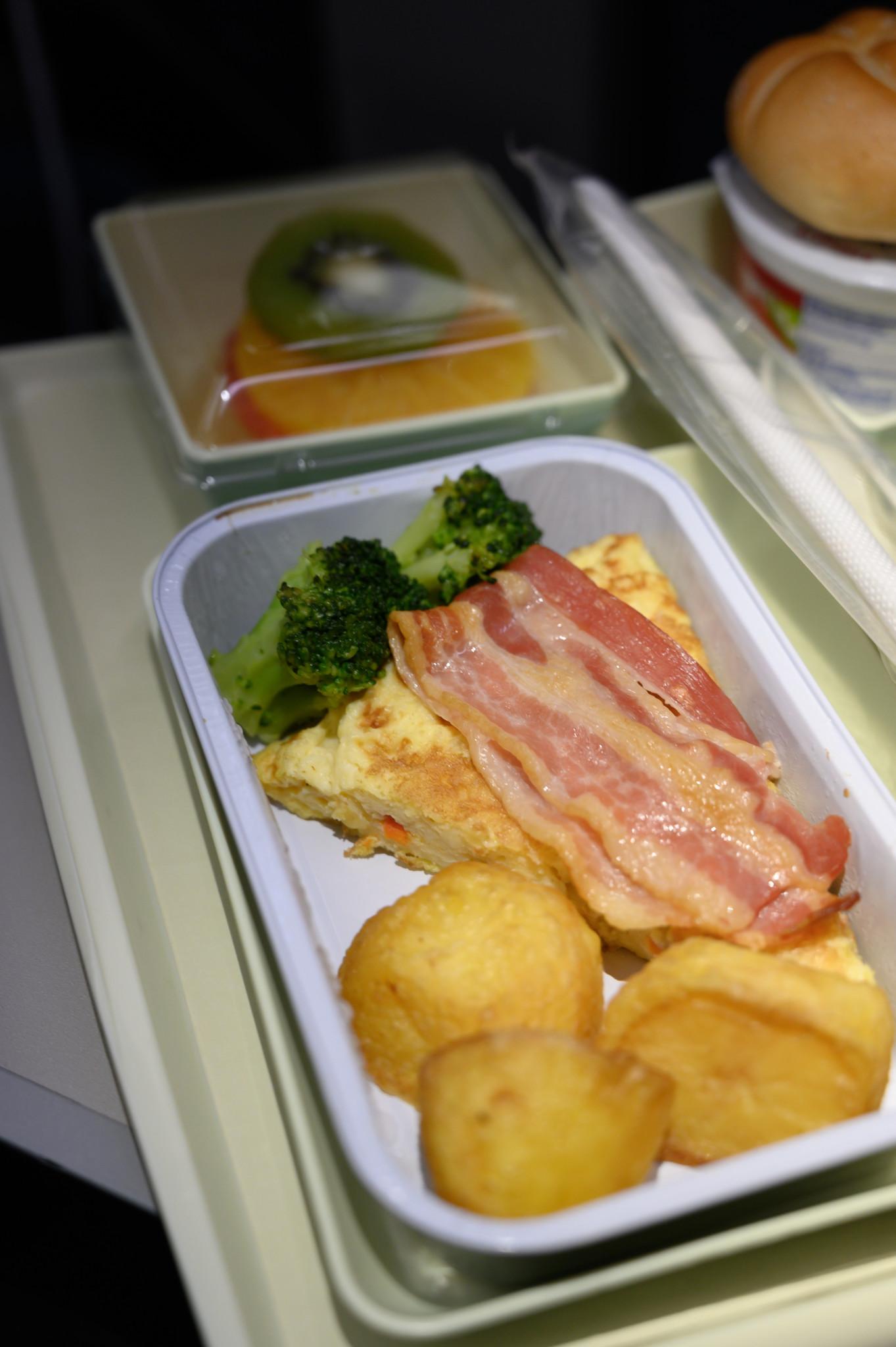 Frühstück in der Vietnam Airlines Premium Economy