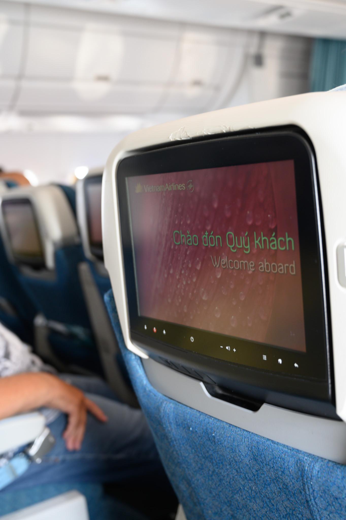 Monitor bei Vietnam Airlines