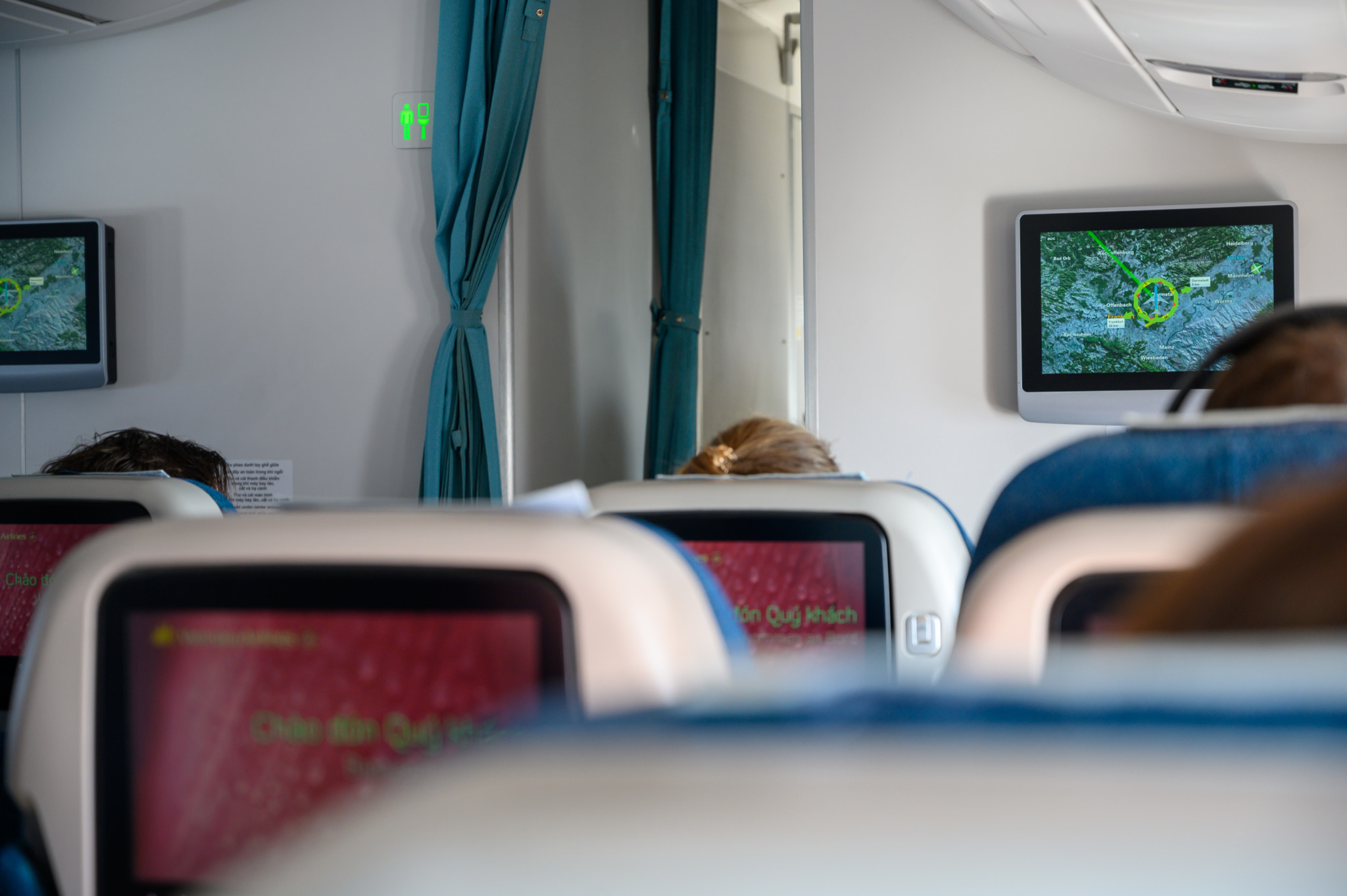 Die Kabine in der Vietnam Airlines Business Class