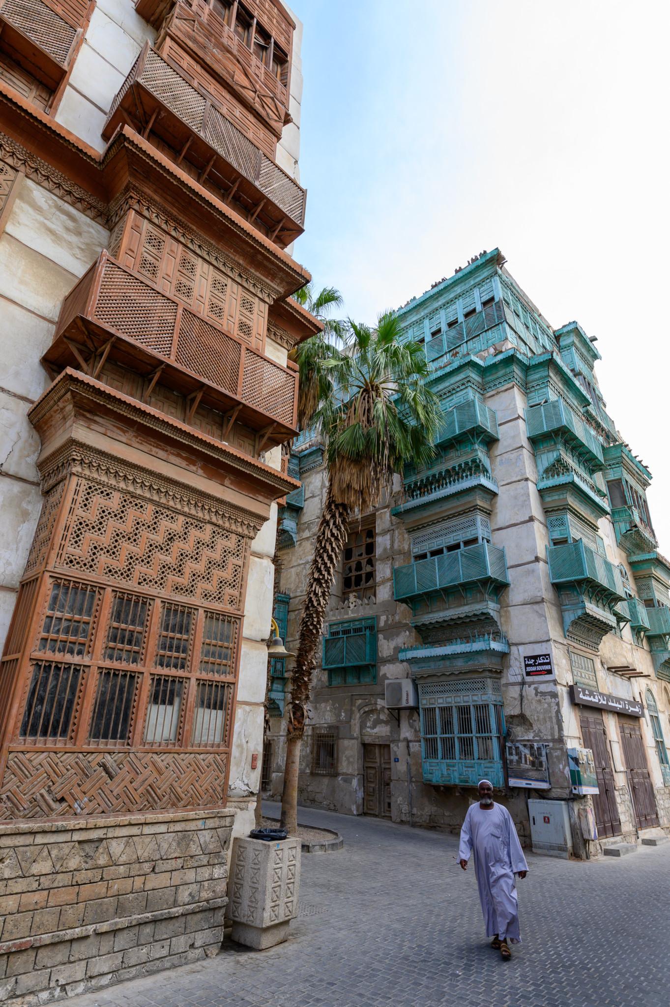 Architektur in der Altstadt von Jeddah in Saudi-Arabien