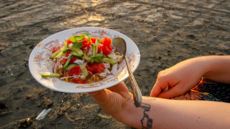 Chana Chaat Streetfood in Karatschi