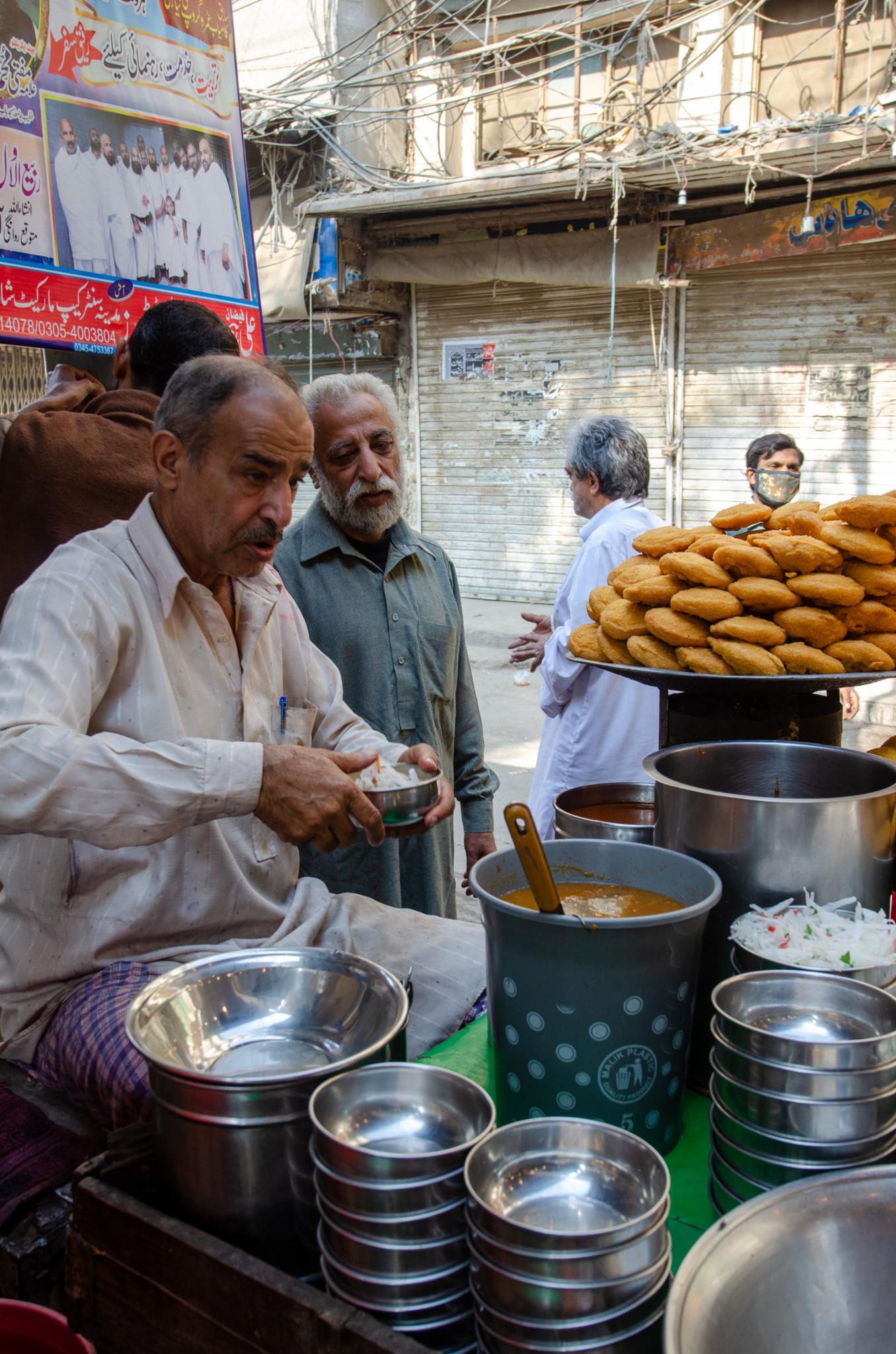 Chana Chaat in der Walled City von Lahore