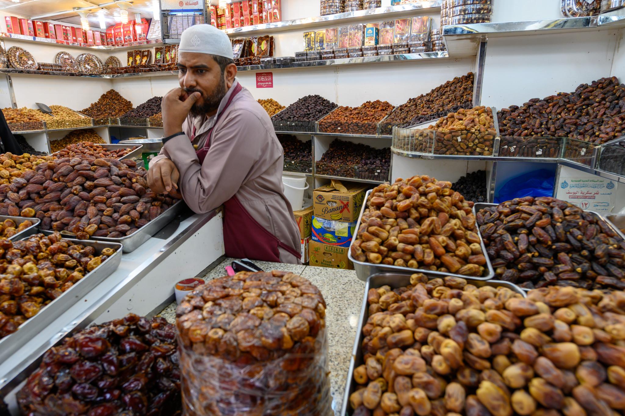 Datteln kaufen auf dem Soukh in Jeddah