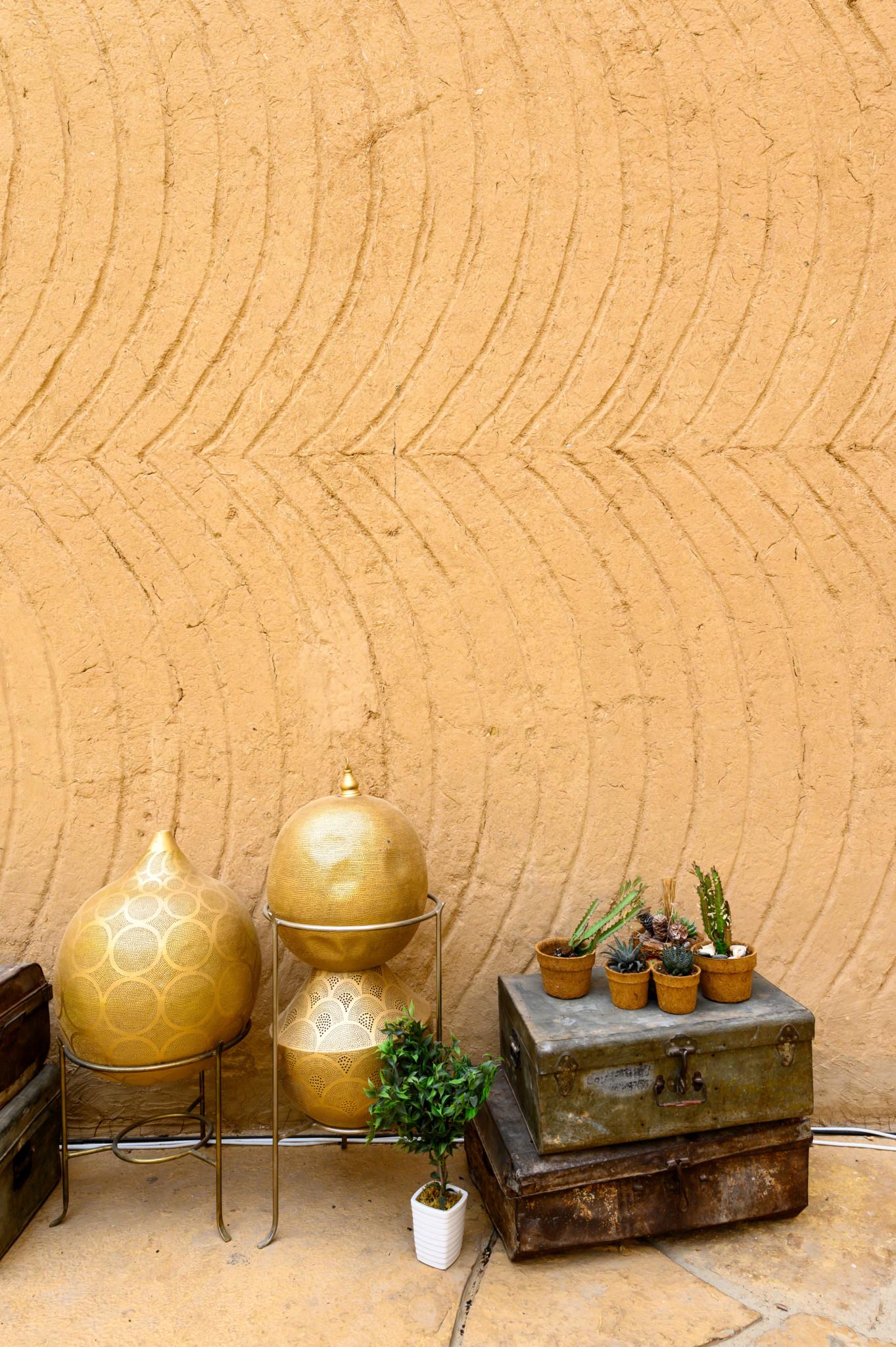 Typisch saudische Dekoration