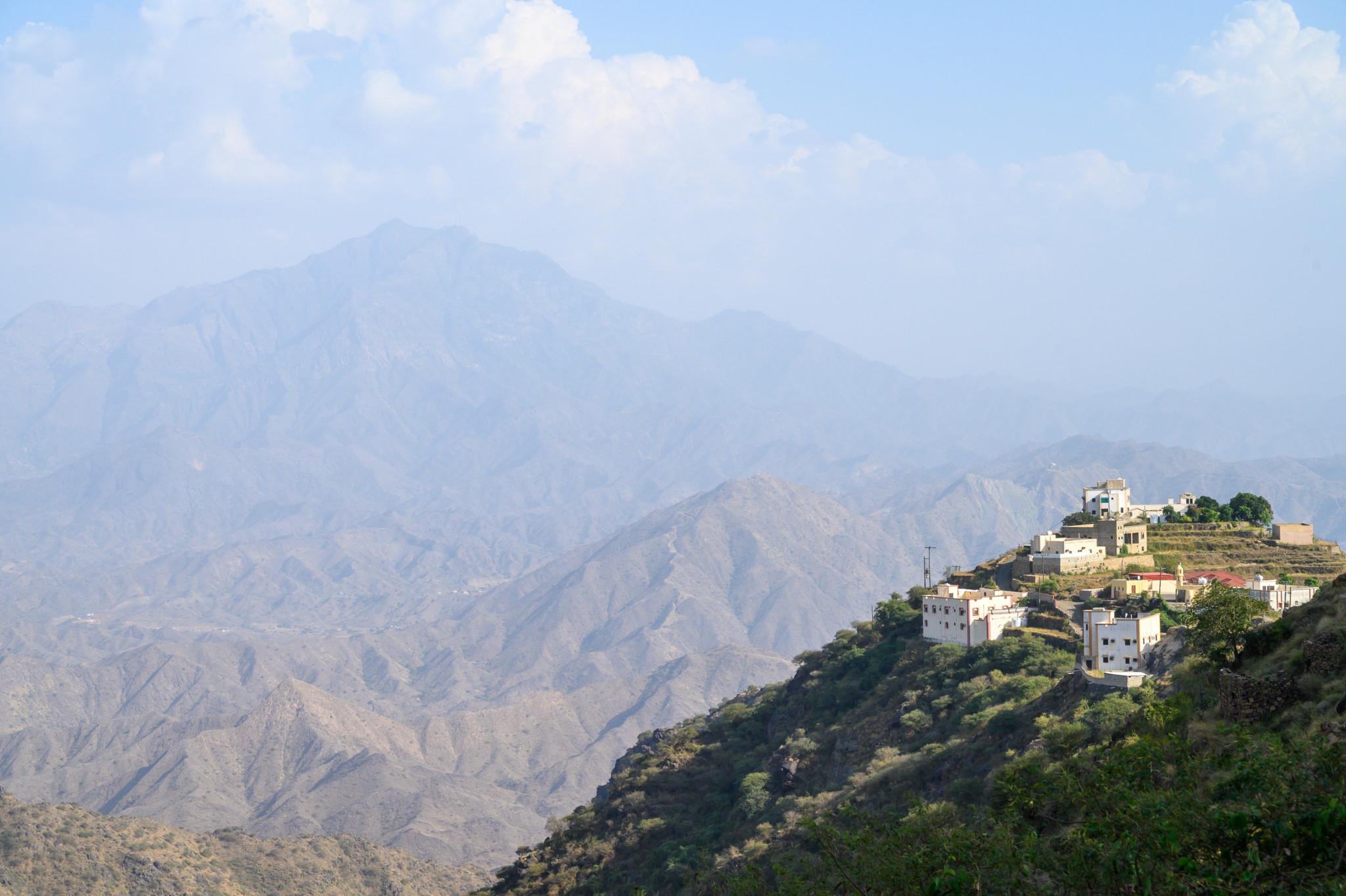Die Bergkulisse im Dorf Fayfa unweit von Jizan