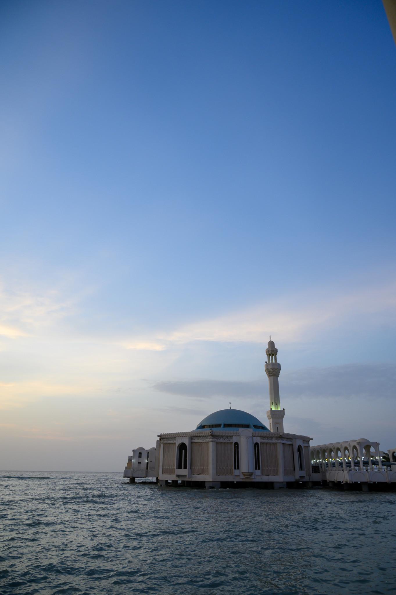 Floating Mosque Sehenswürdigkeit im Saudi Arabien Urlaub