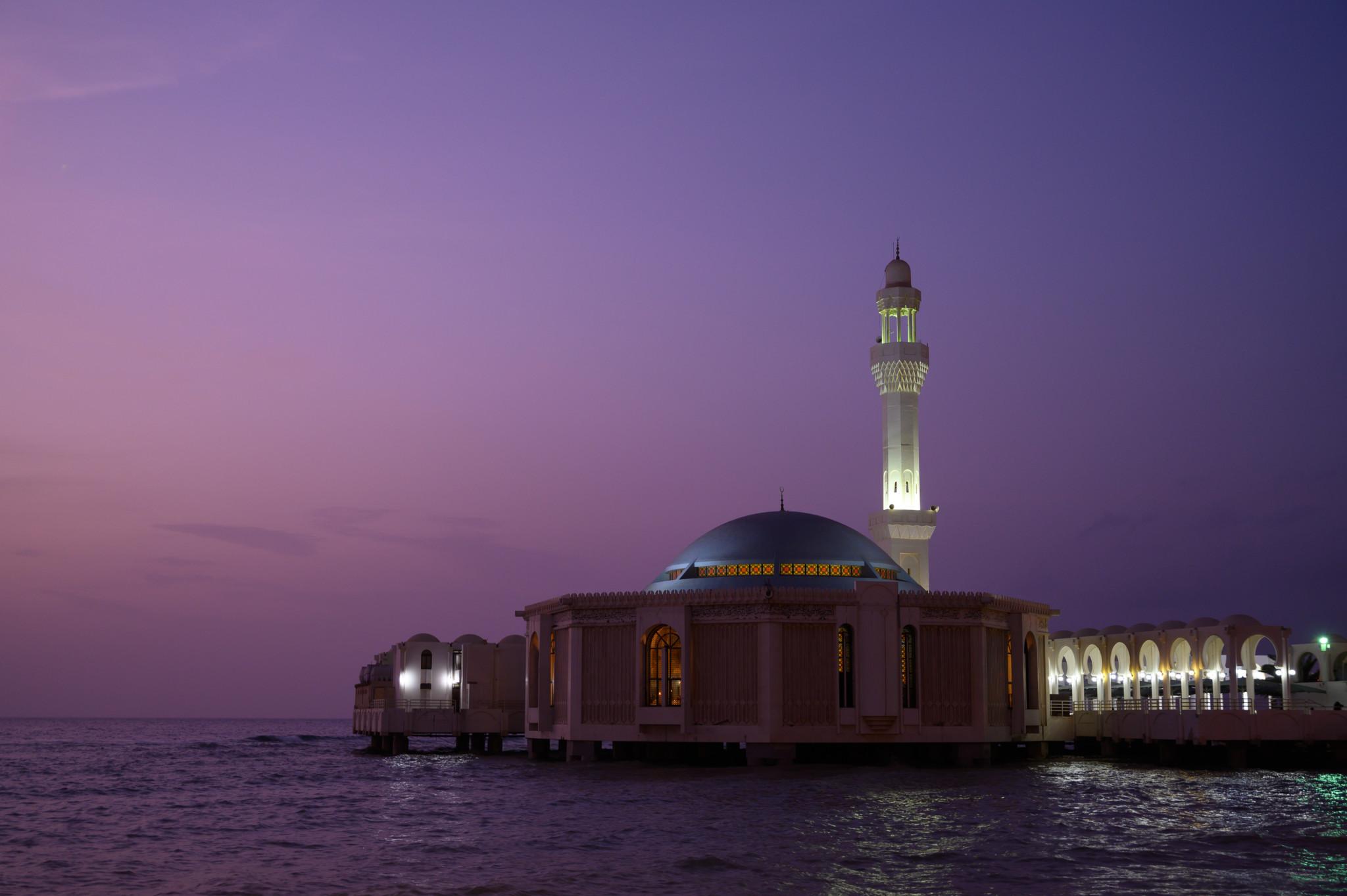 Die Floating Mosque in Jeddah ist eine der wichtigsten Sehenswürdigkeiten der Stadt