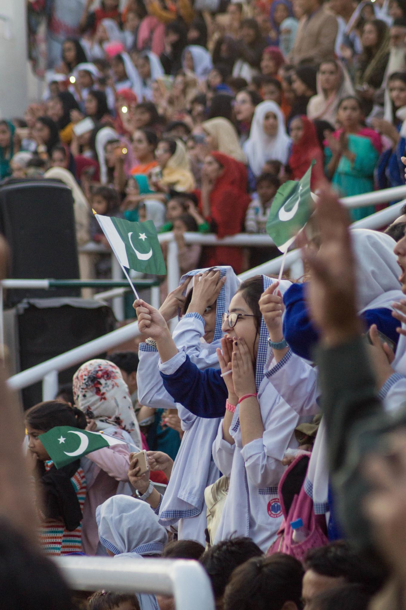Wagah Border Grenzzeremonie Lahore