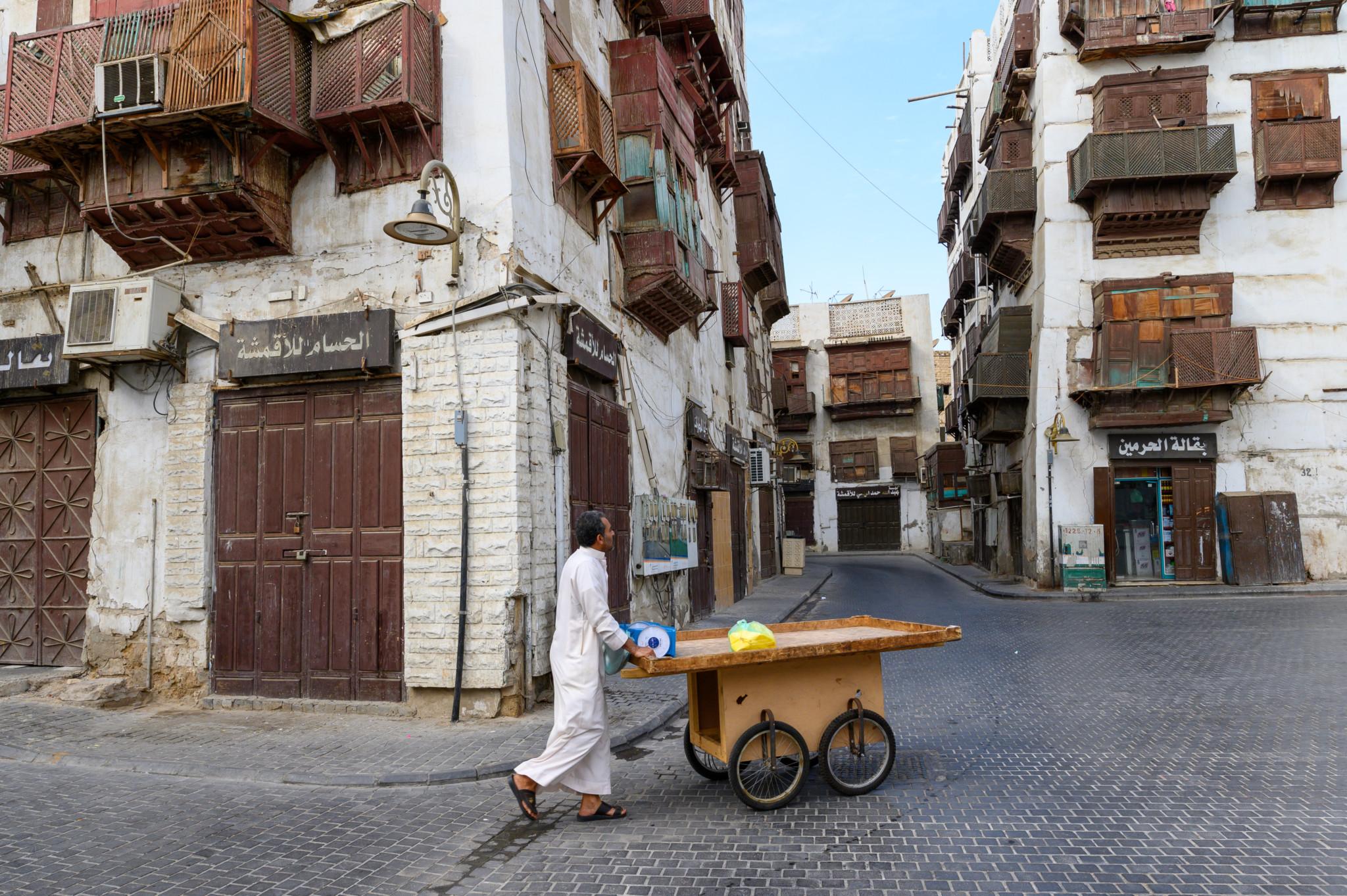 Jeddah Altstadt-Szene
