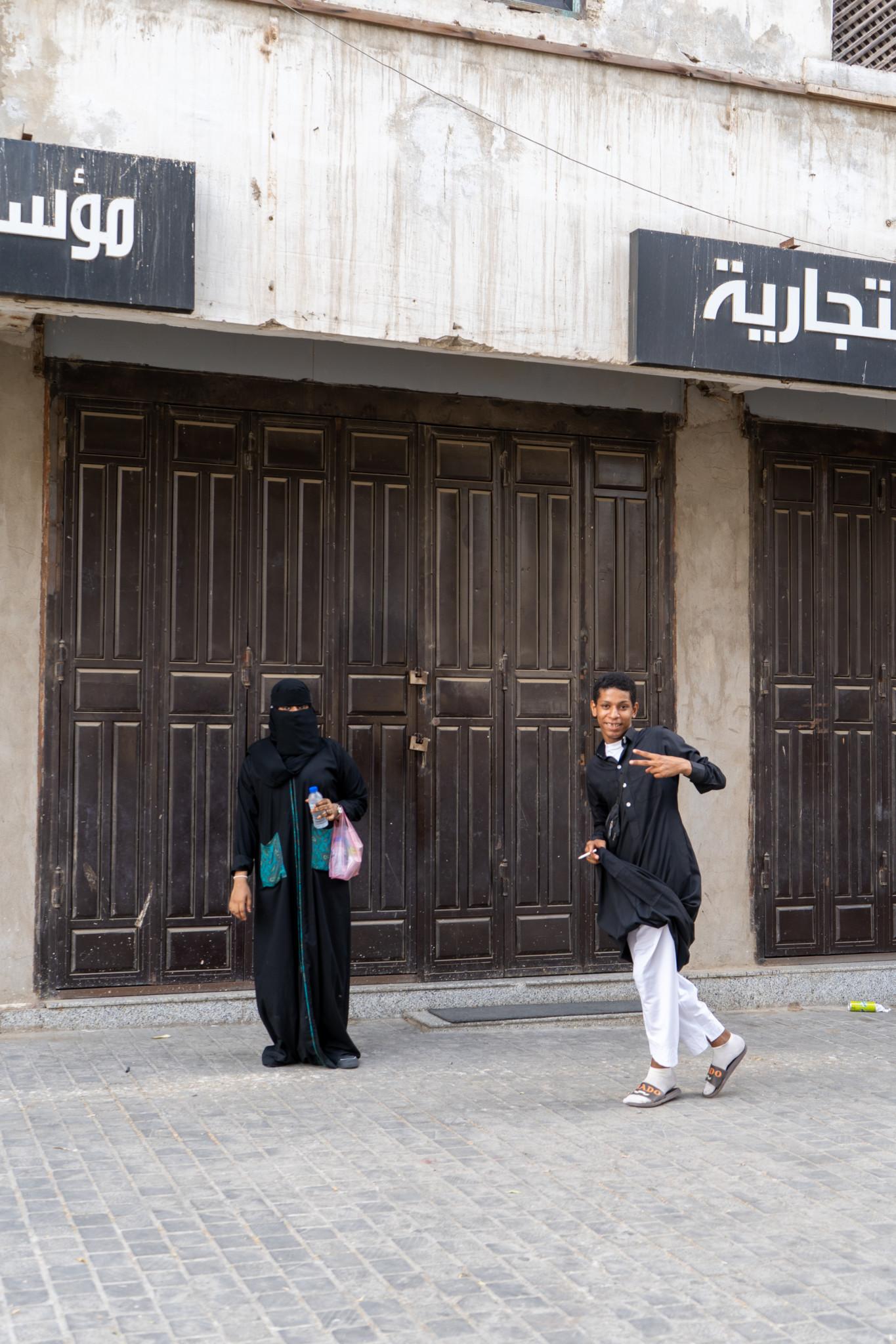 Menschen in Jeddah