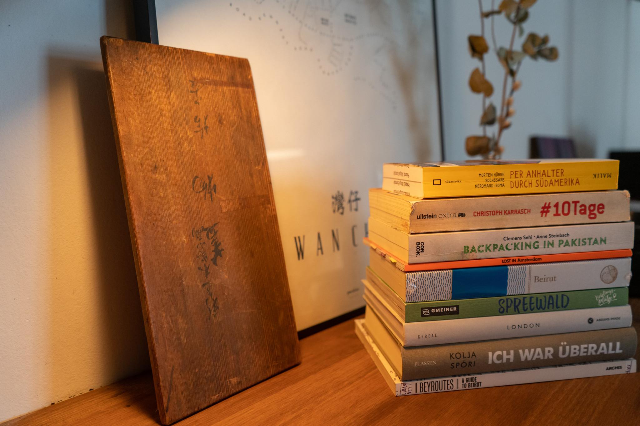 Reisebücher als Tipp gegen Fernweh
