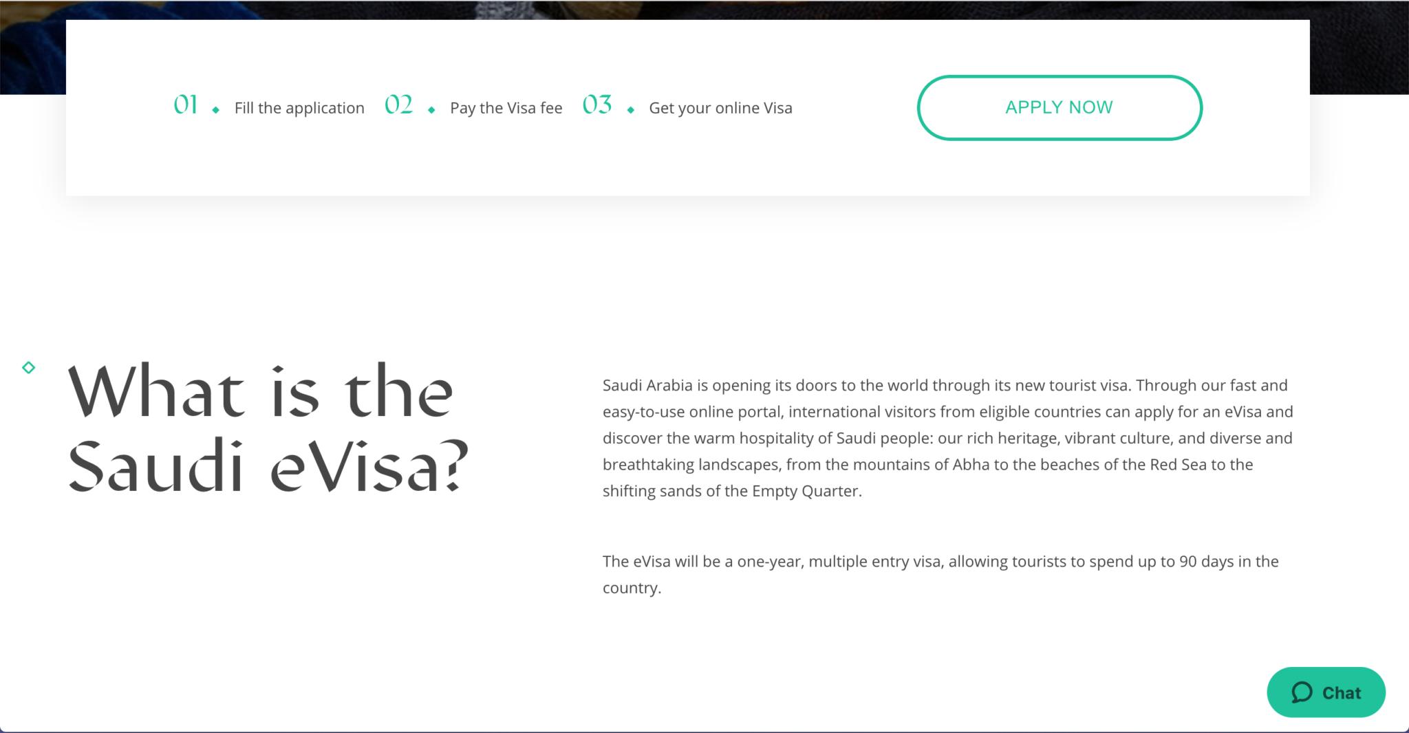 Touristen-Visum für Saudi Arabien beantragen