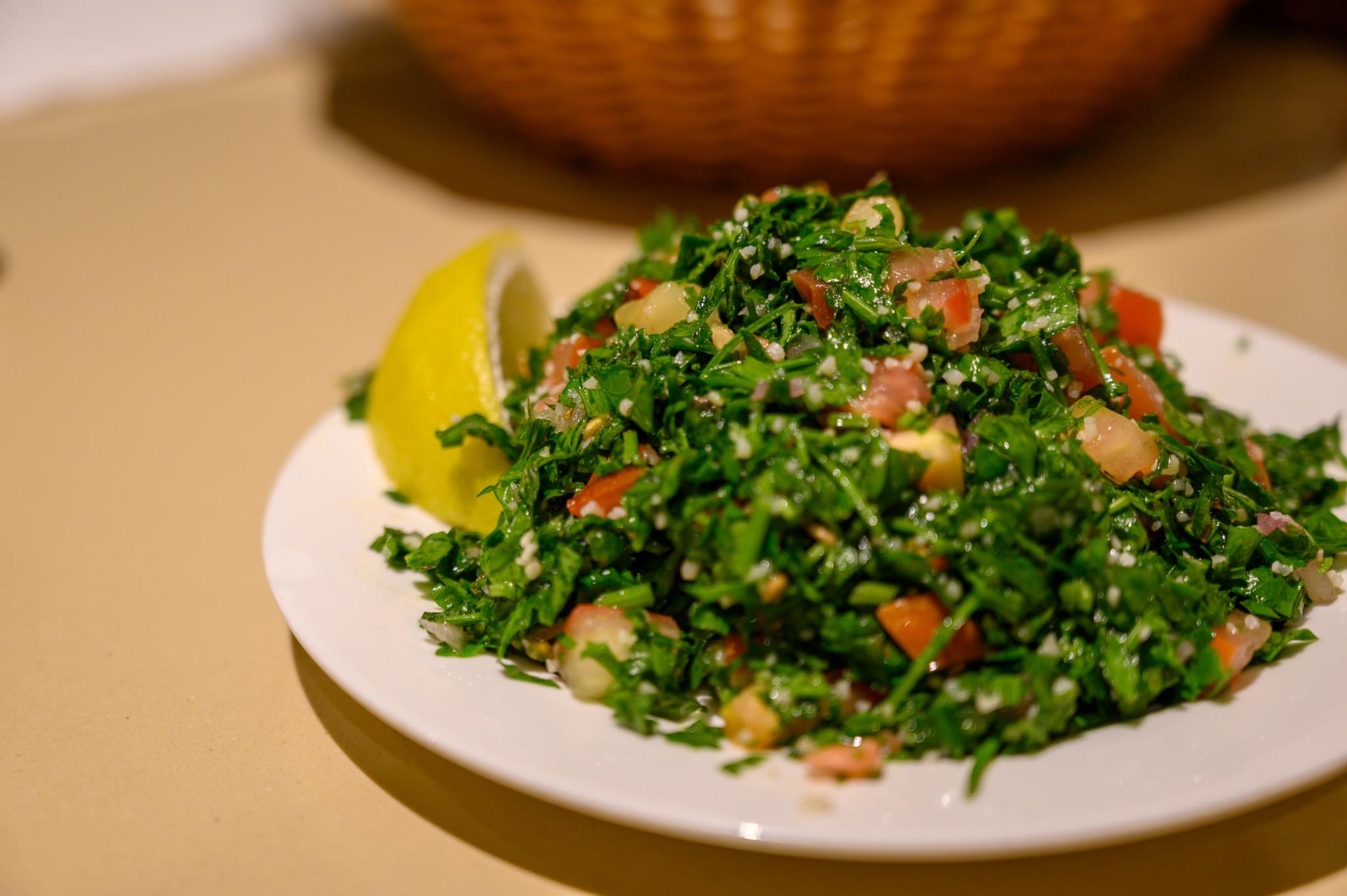 Tabouleh im Abu Nawas Restaurant in Dammam