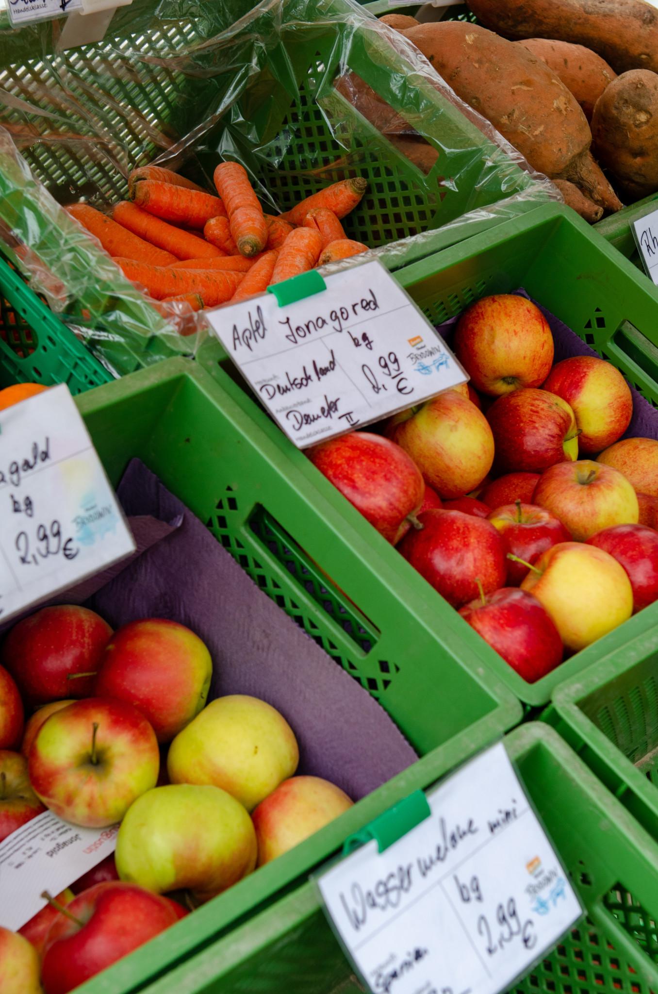 Frische Äpfel in Brodowin