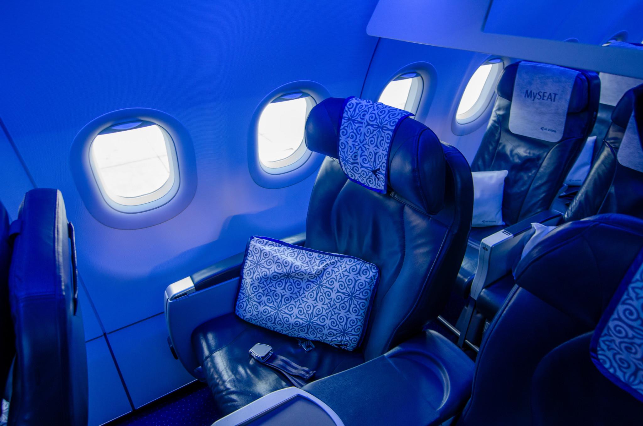 Air Astana Business Class Boeing 757 Frankfurt - Nursultan (Astana)