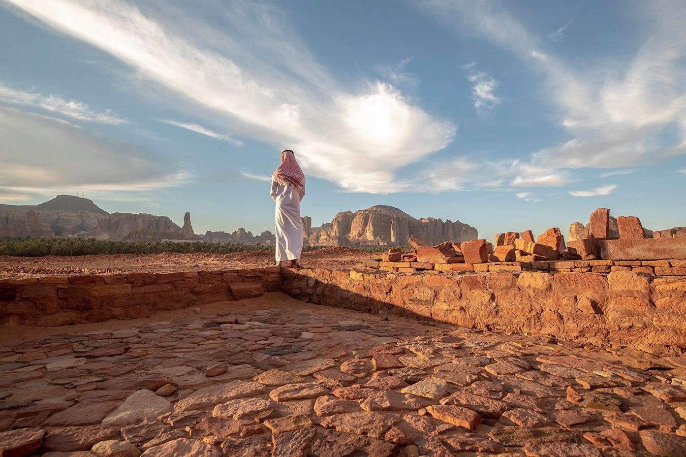 Typische Landschaft in Al Ula in Saudi-Arabien