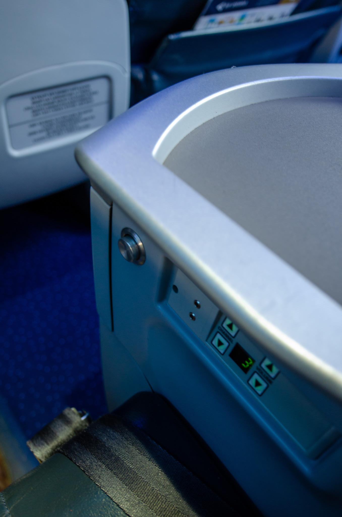 Amatur in den Sitzen bei Air Astana