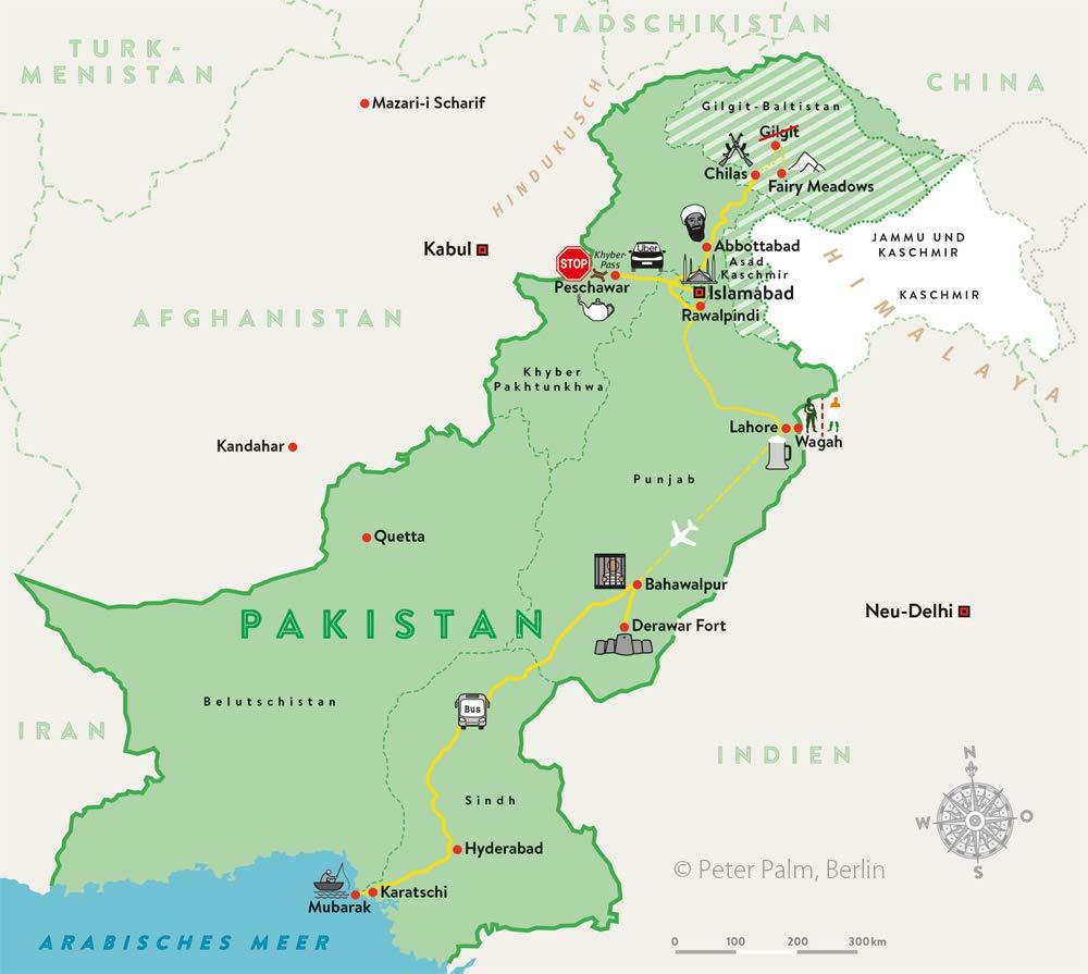 Backpacking in Pakistan: Die Route zum Buch von Anne Steinbach und Clemens Sehi