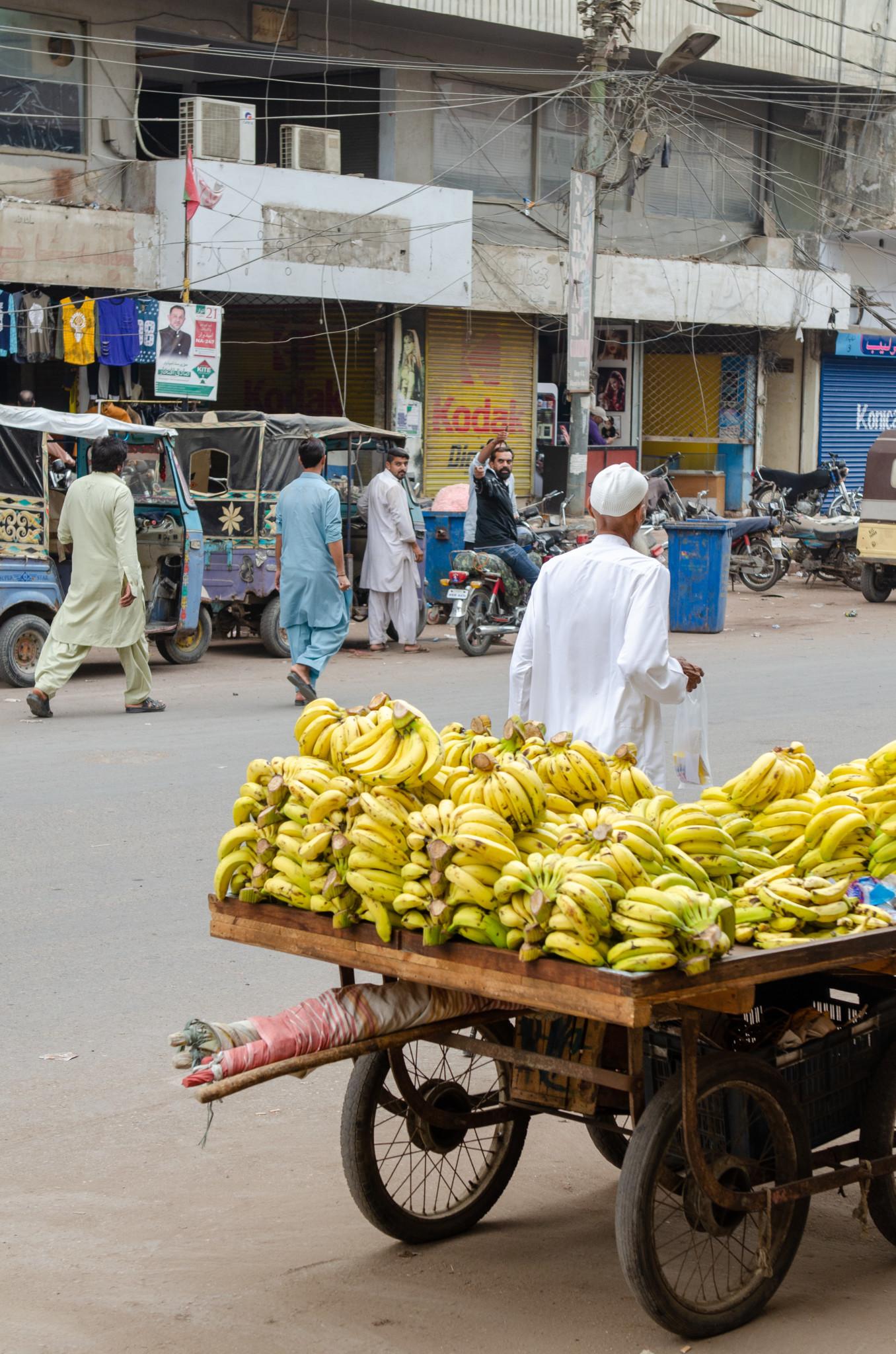 Verkäufer auf dem Empress Market in Karatschi
