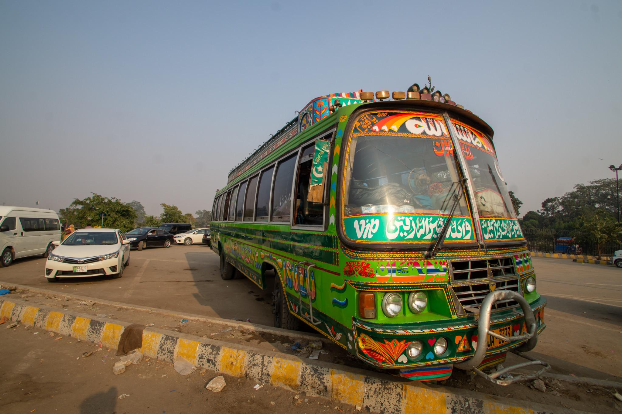 Fortbewegung in Pakistan klappt mit dem Bus ganz gut