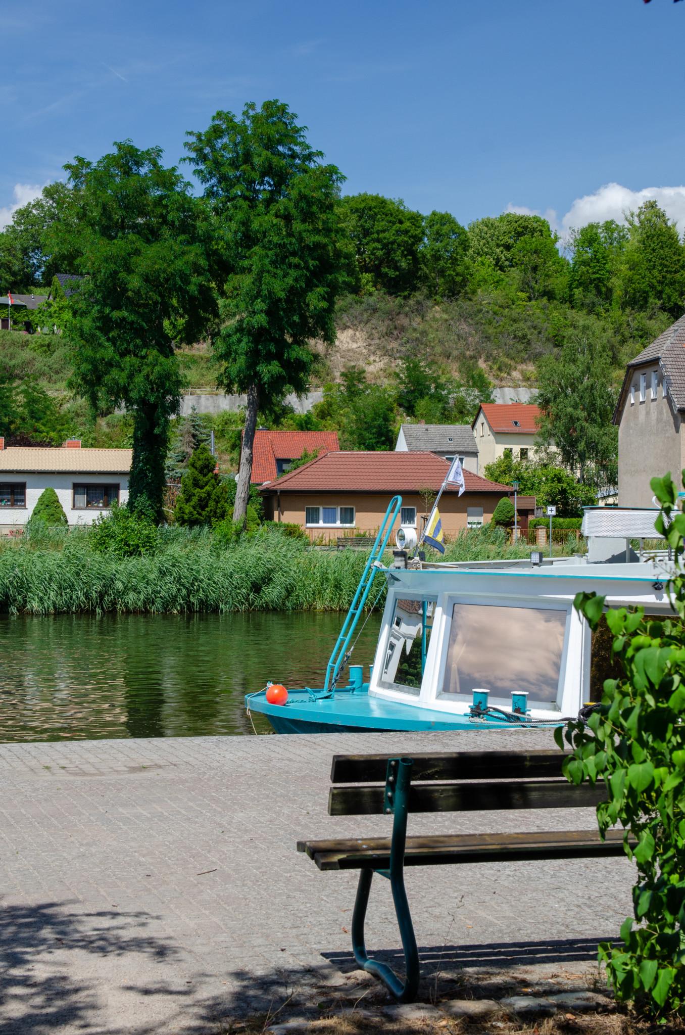 Boote in Oderberg in Brandenburg