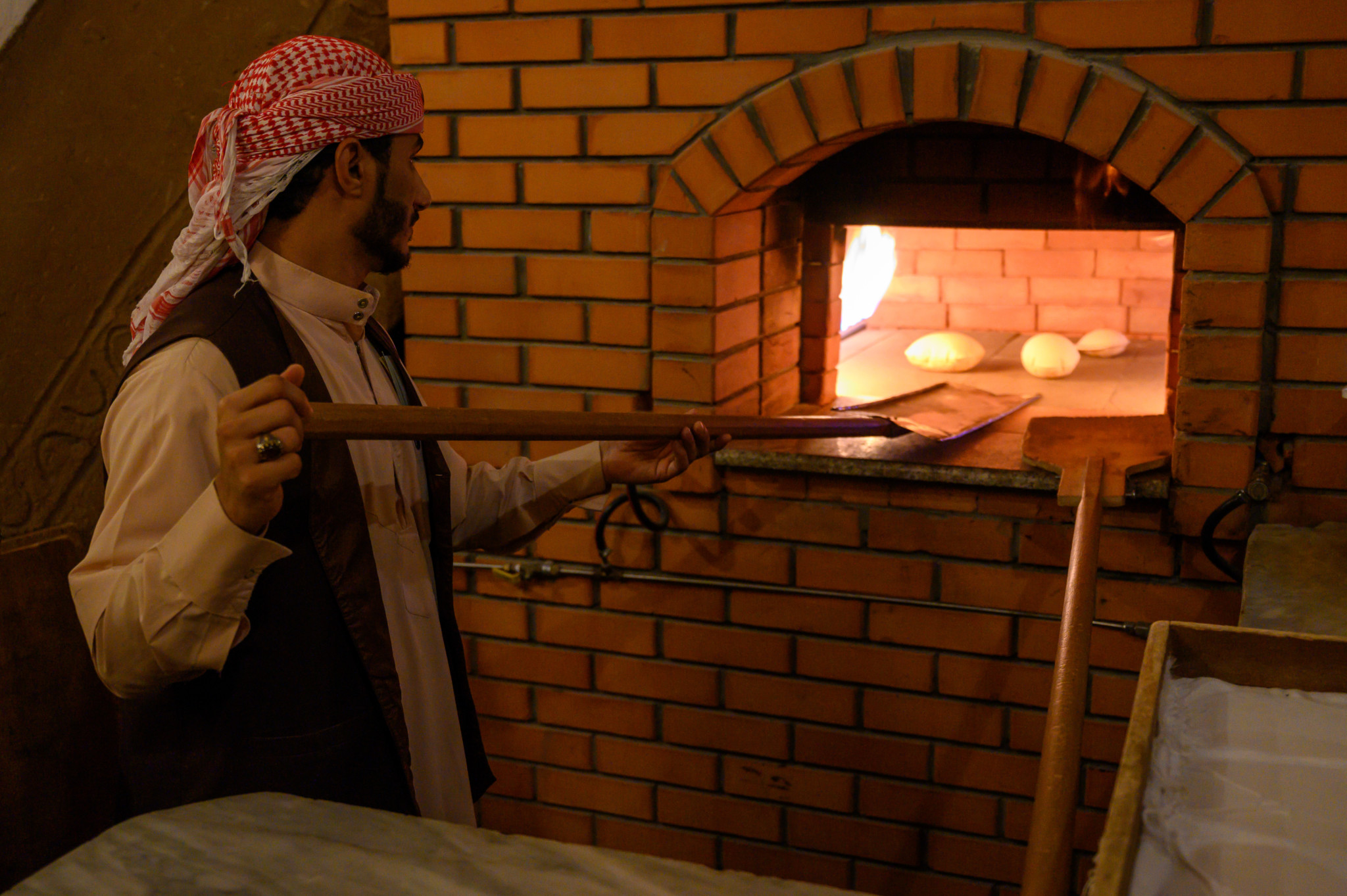 Frisches Brot im Heritage Village