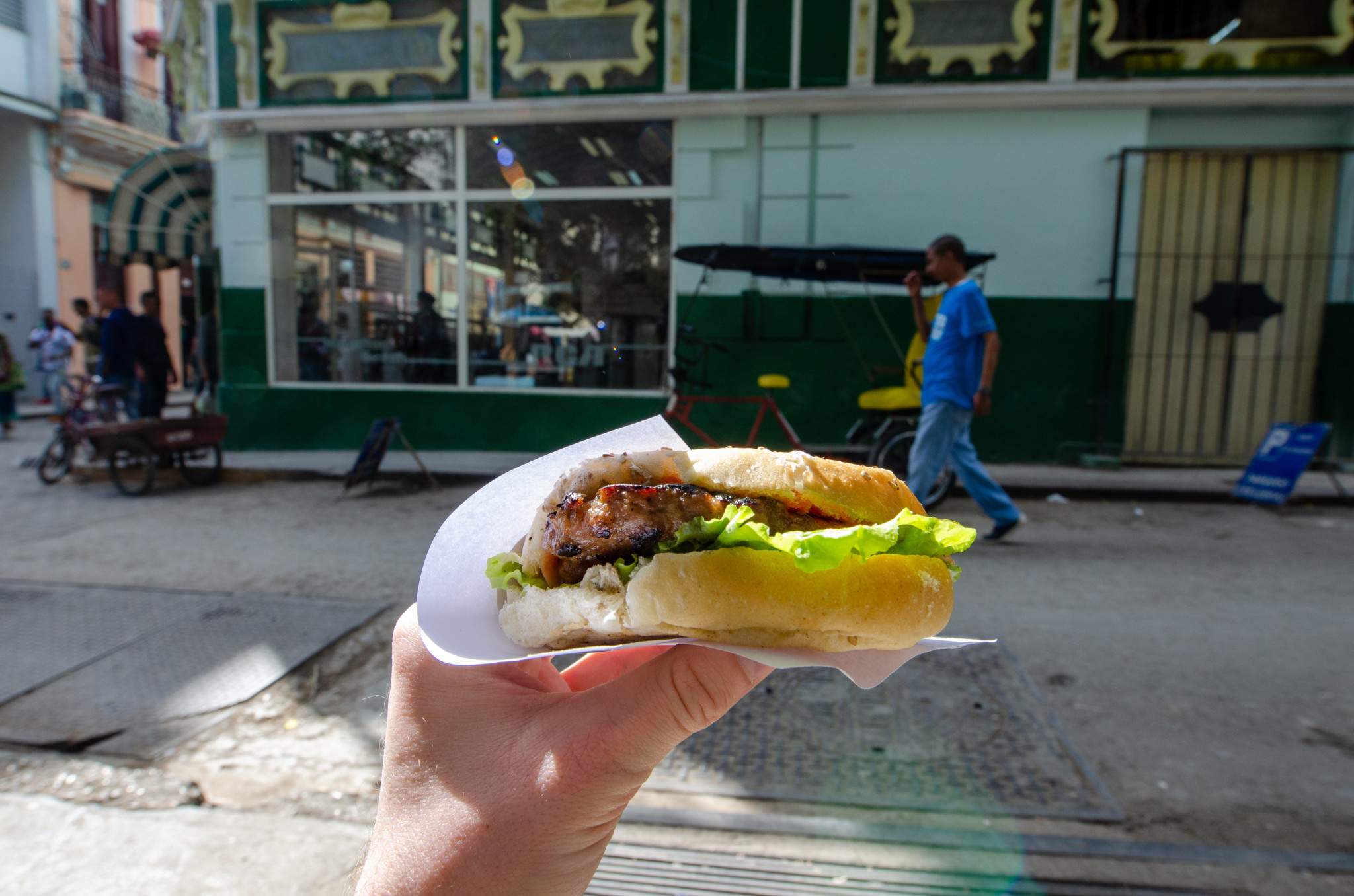 Burger von La Liga in Havanna