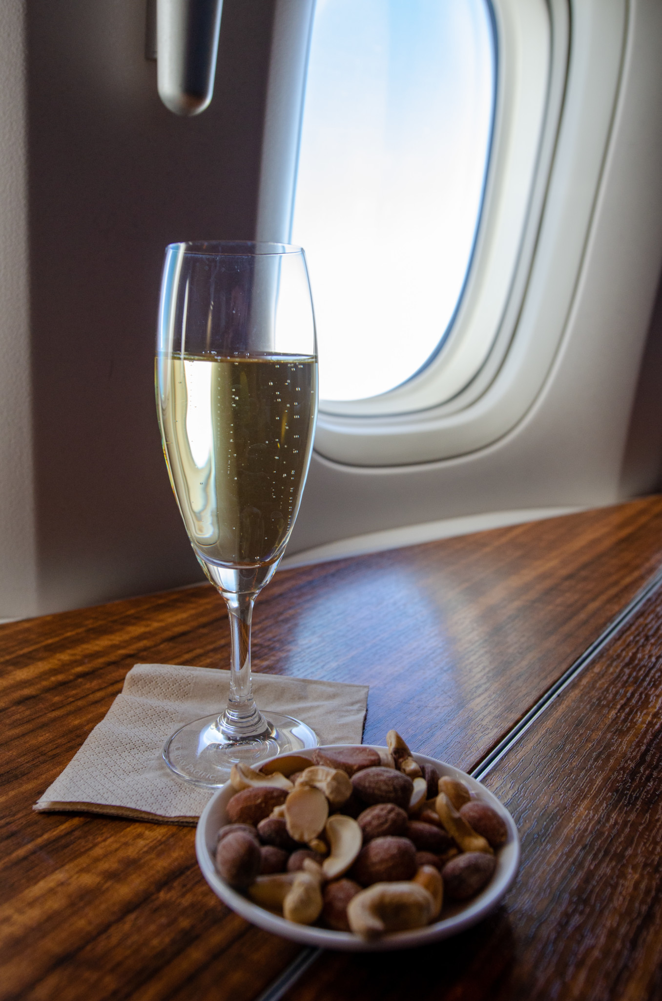 Taittinger Champagner in der Cathay First Class