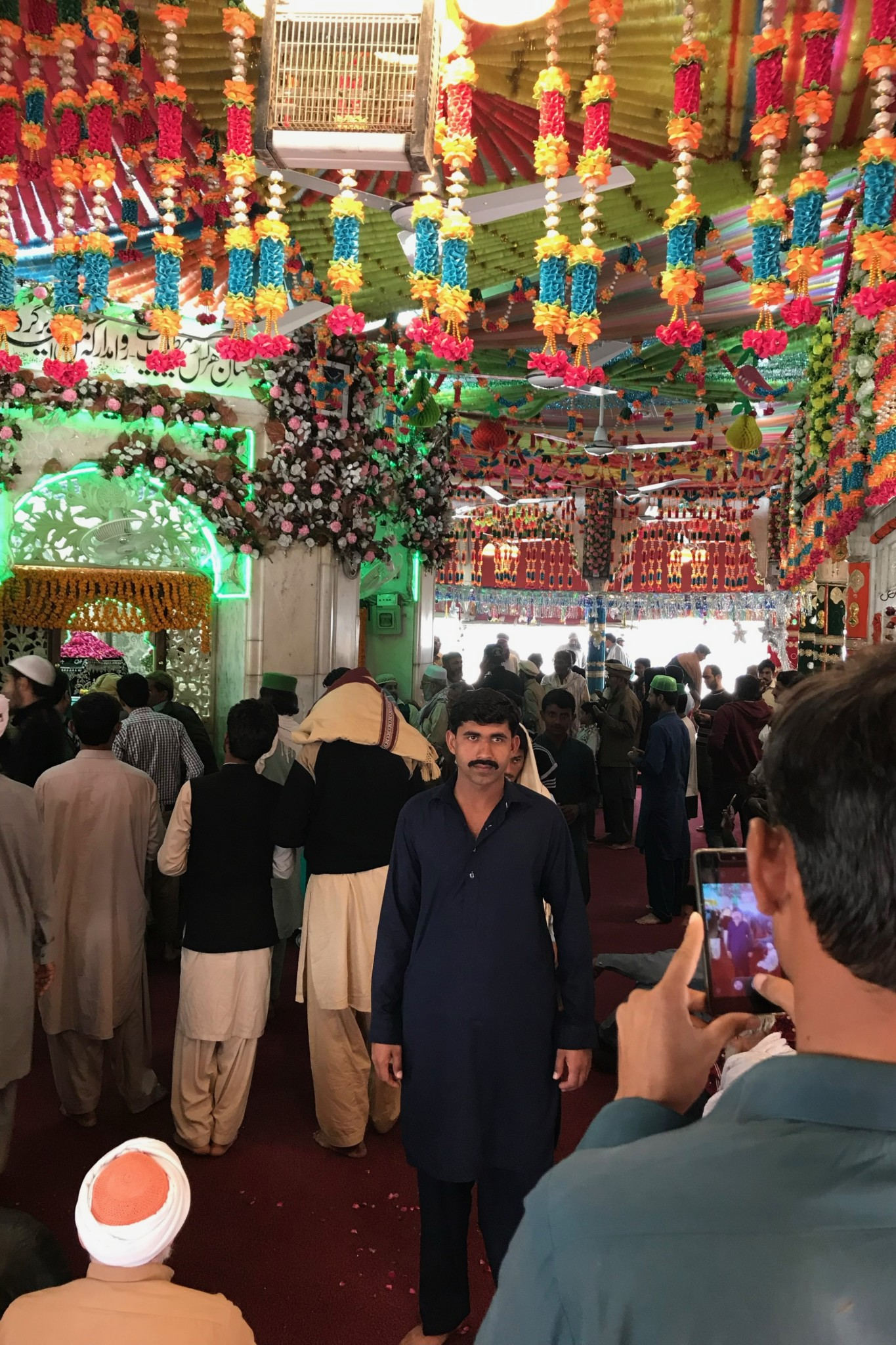 Dekoration im Data Darbar Schrein Lahore