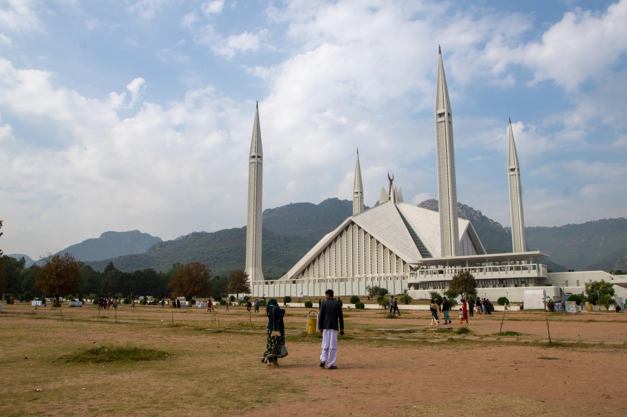 Zu den Sehenswürdigkeiten in Islamabad gehört definitiv die Faisal Moschee