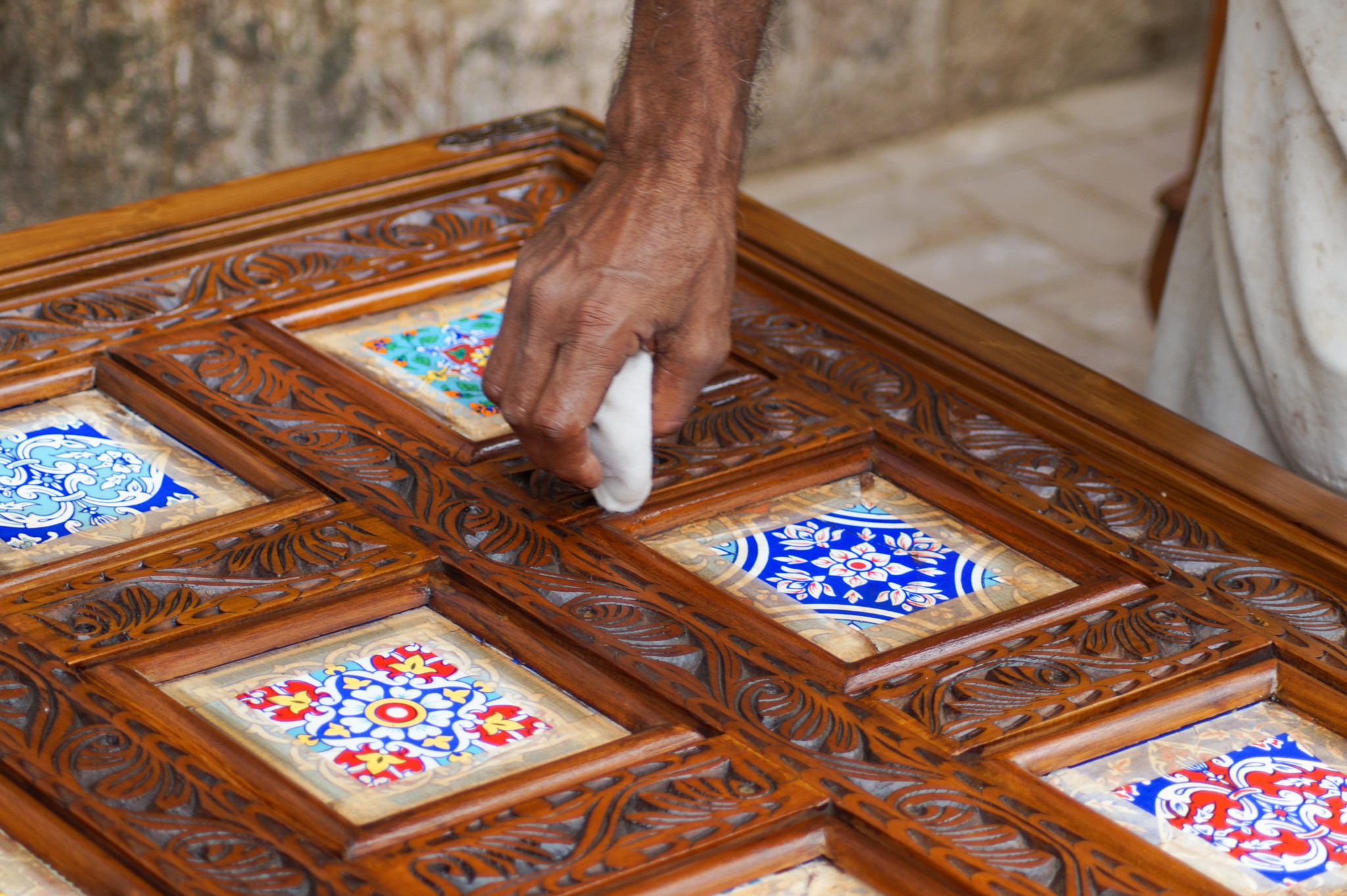Gemälde am Straßenrand von Karatschi