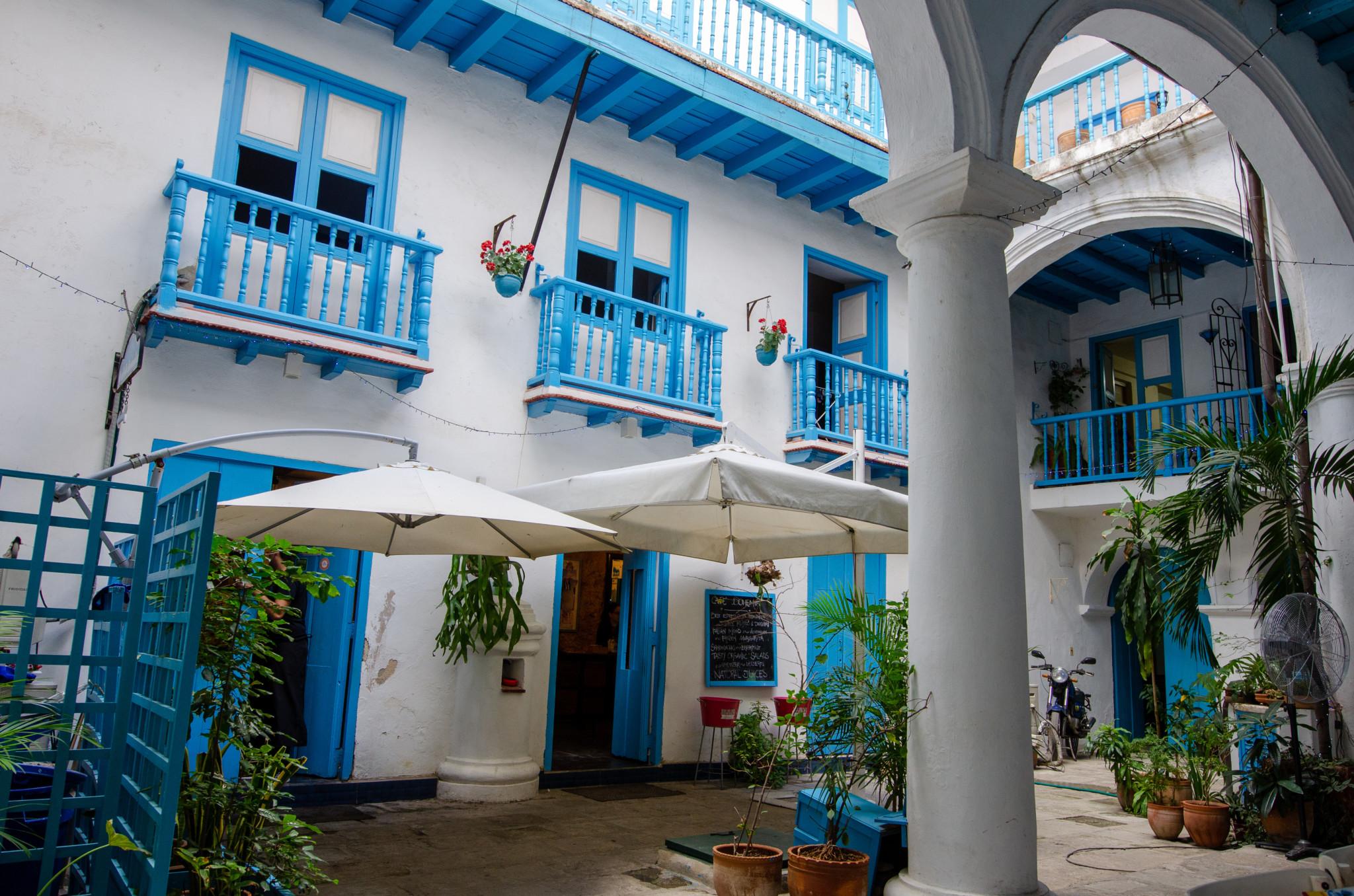 Innenhof vom Restaurant in Habana Vieja