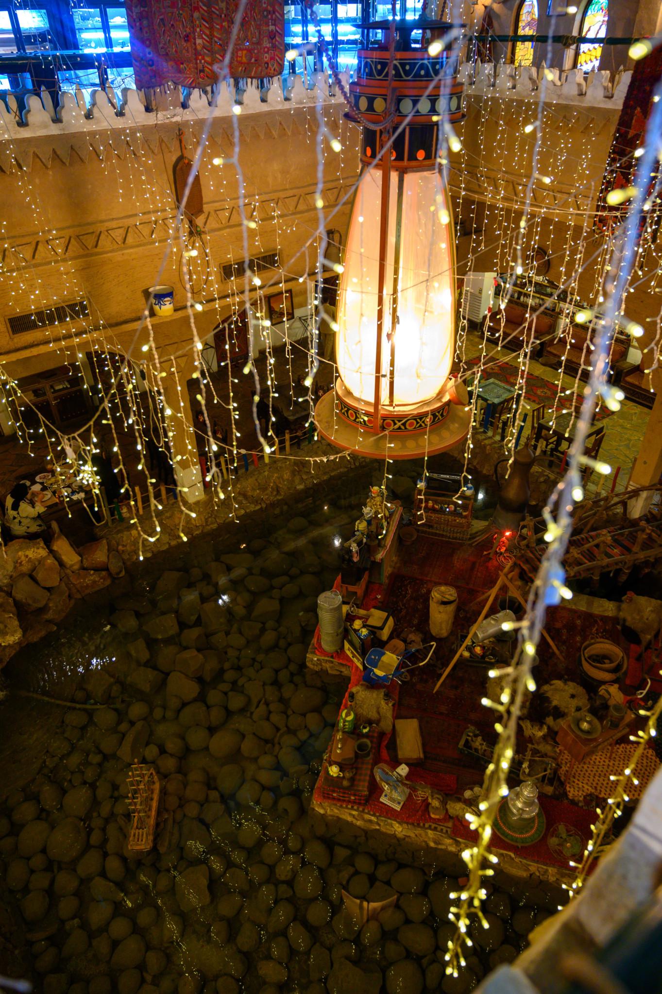 Das Restaurant im Heritage Village in Dammam von oben