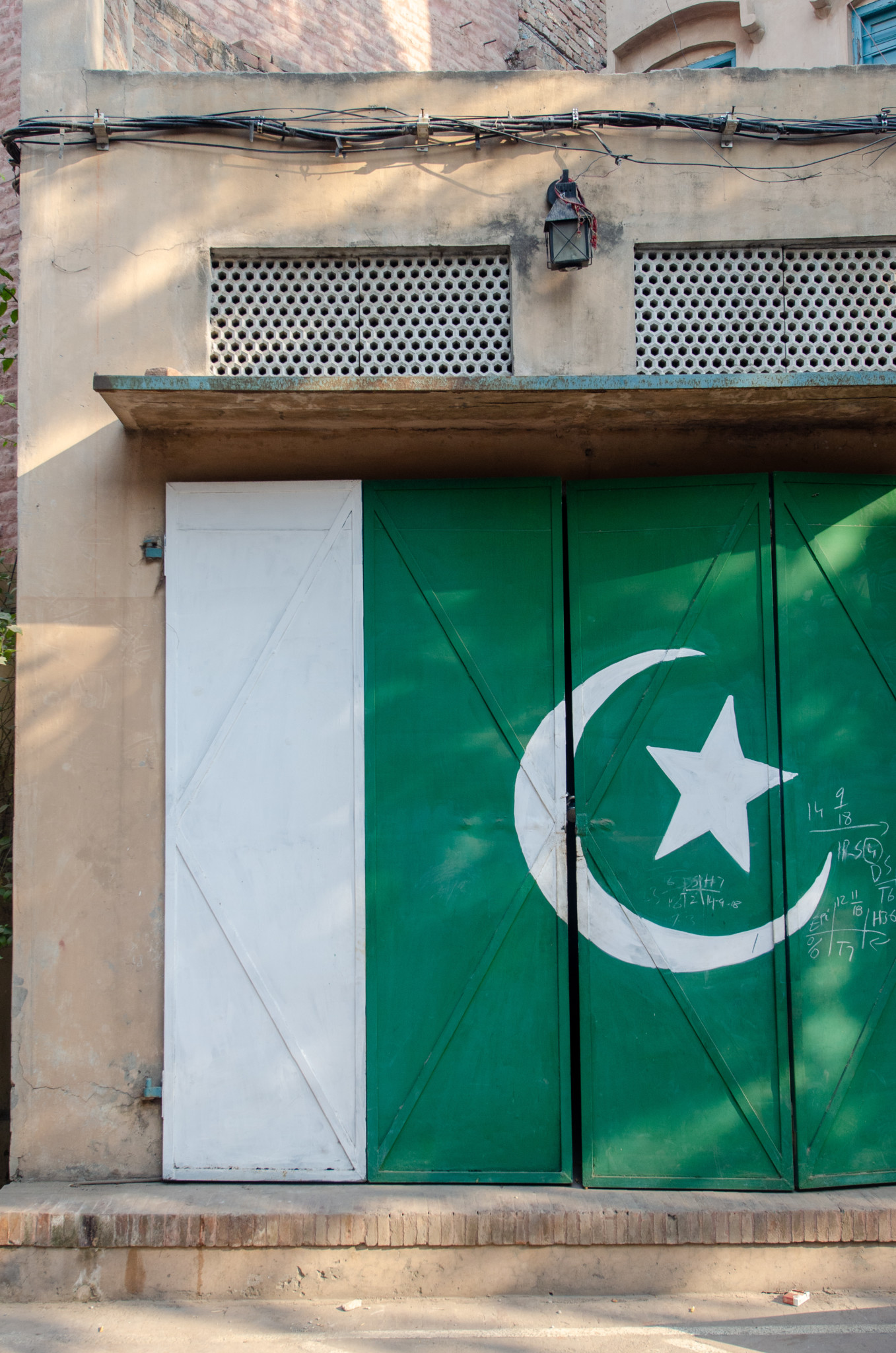 Pakistan-Flagge an jeder Ecke