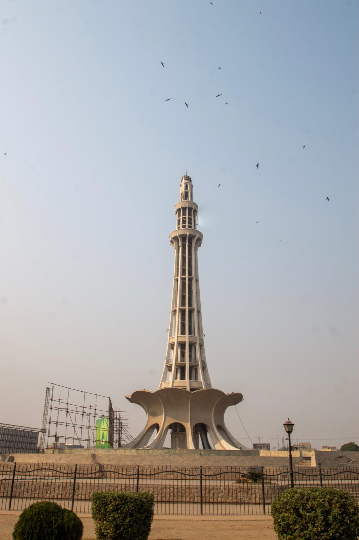 Minar-e-Pakistan Monument als eine der wichtigen Lahore Sehenswürdigkeiten
