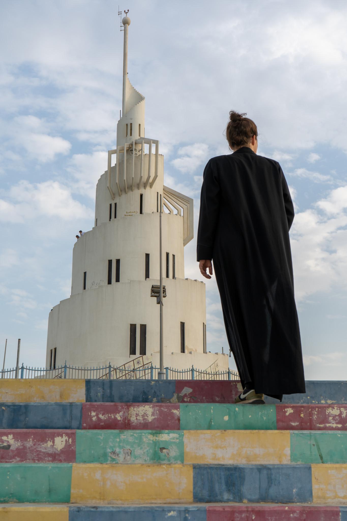 Der berühmte Turm auf Marjan Island in Dammam