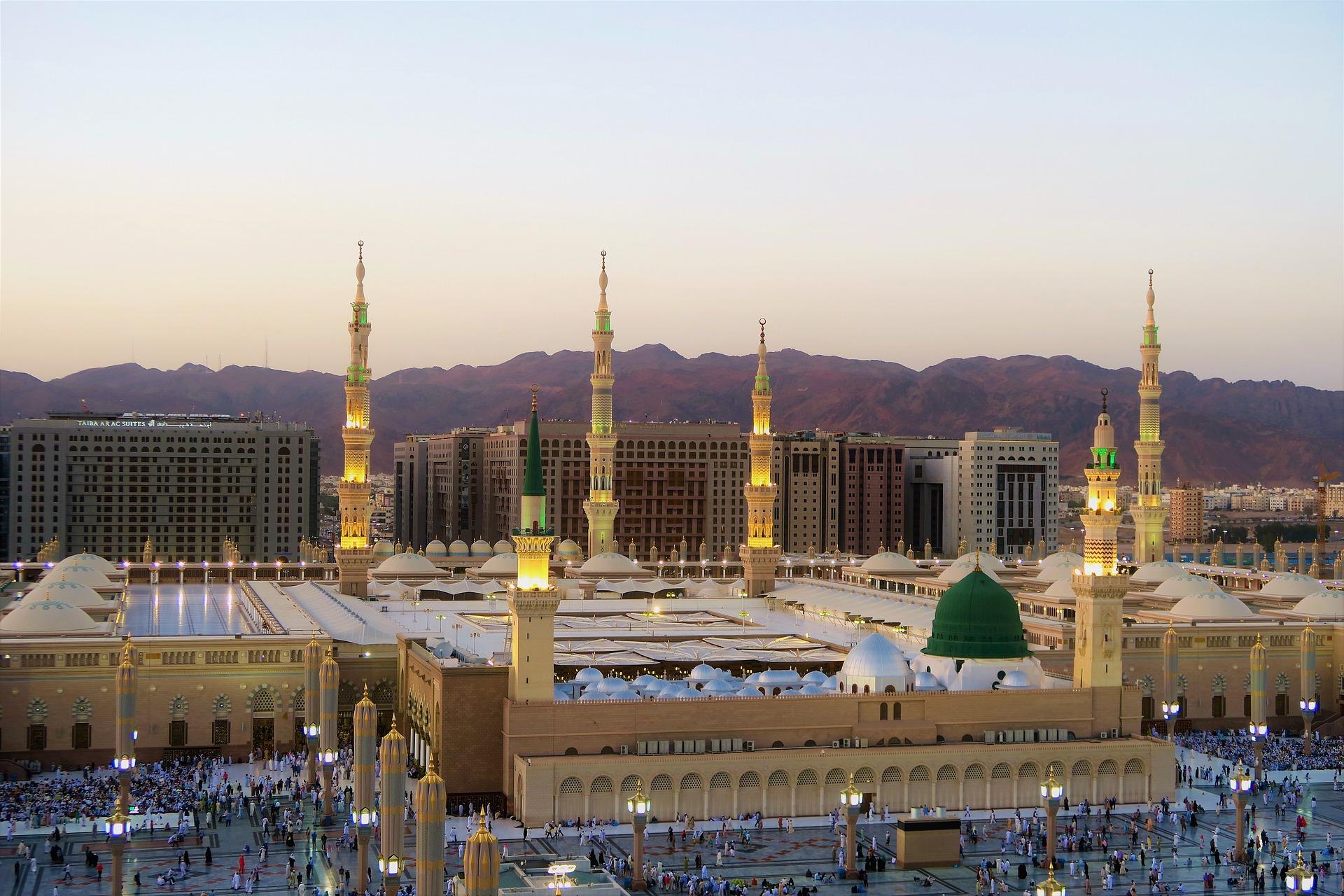 Die Propheten Moschee in Medina gehört zu den Highlights von Saudi-Arabien