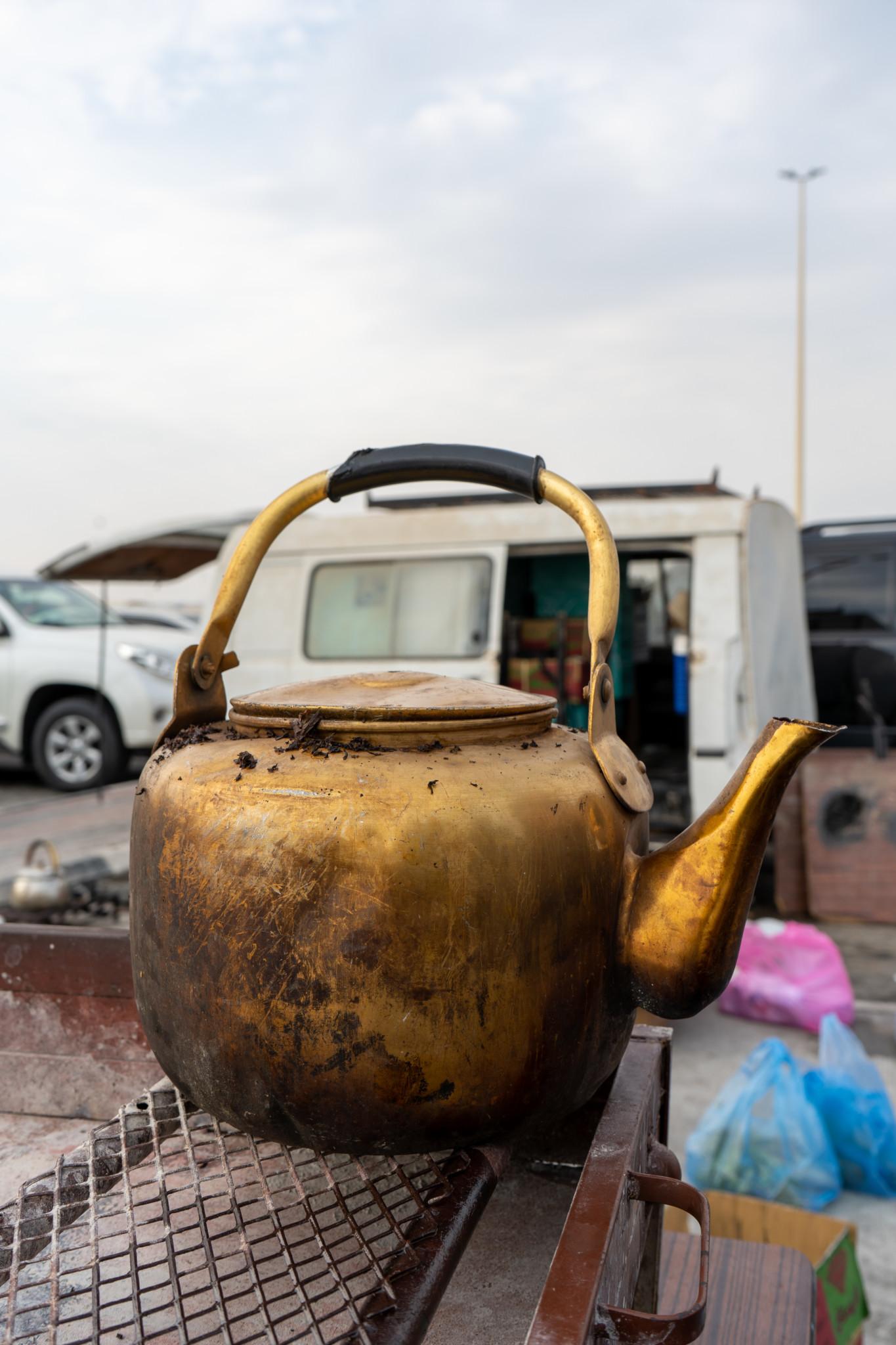 Frischen Tee gibt es auf Marjan Island in Dammam auch
