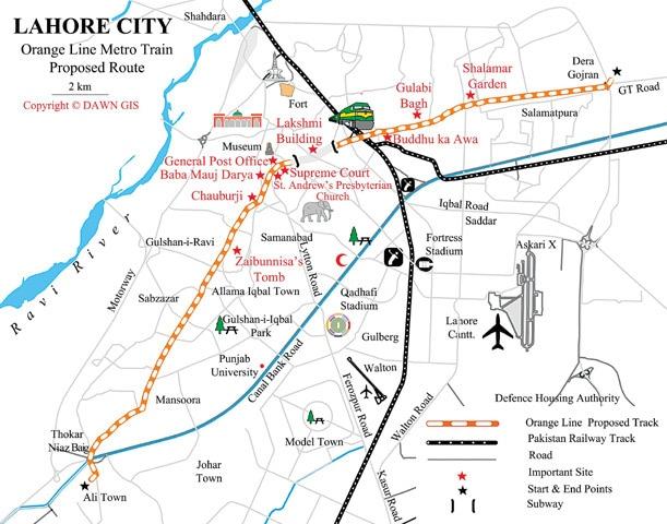 Orange Line Lahore