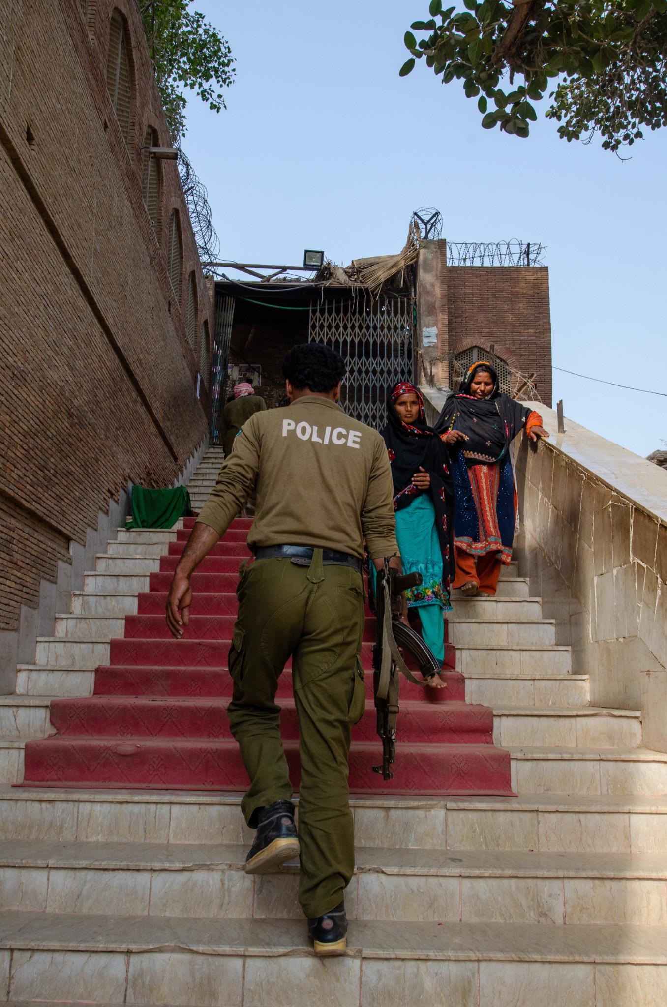 Polizeischutz ist in Pakistan normal