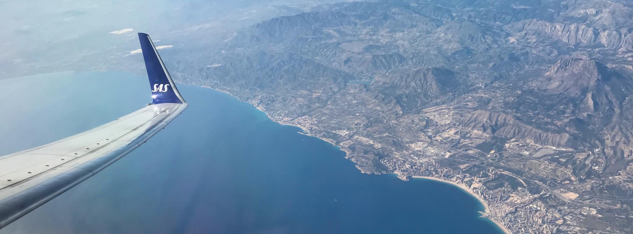 Ausblick auf dem Flug von Stockholm nach Alicante