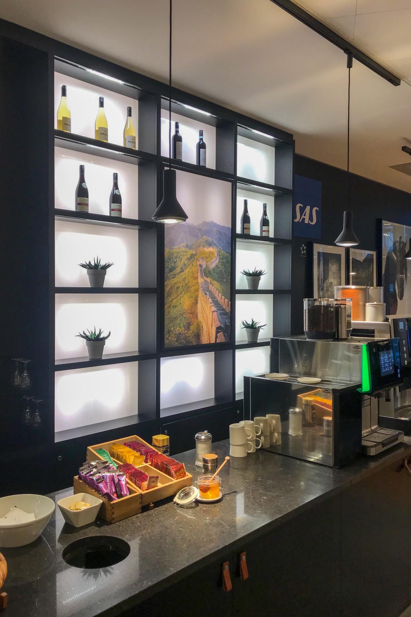Bar in der SAS Business Class Lounge