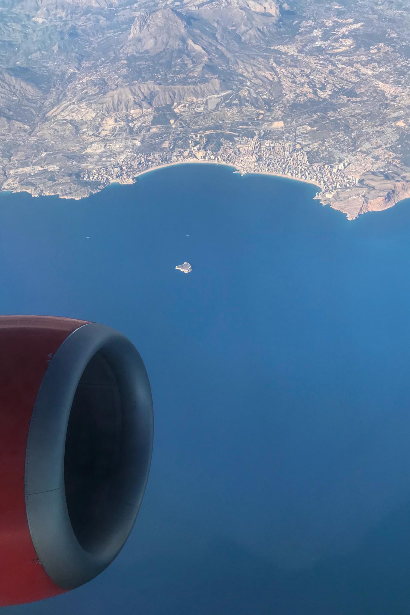 Ausblick auf dem SAS Flug von Stockholm nach Alicante
